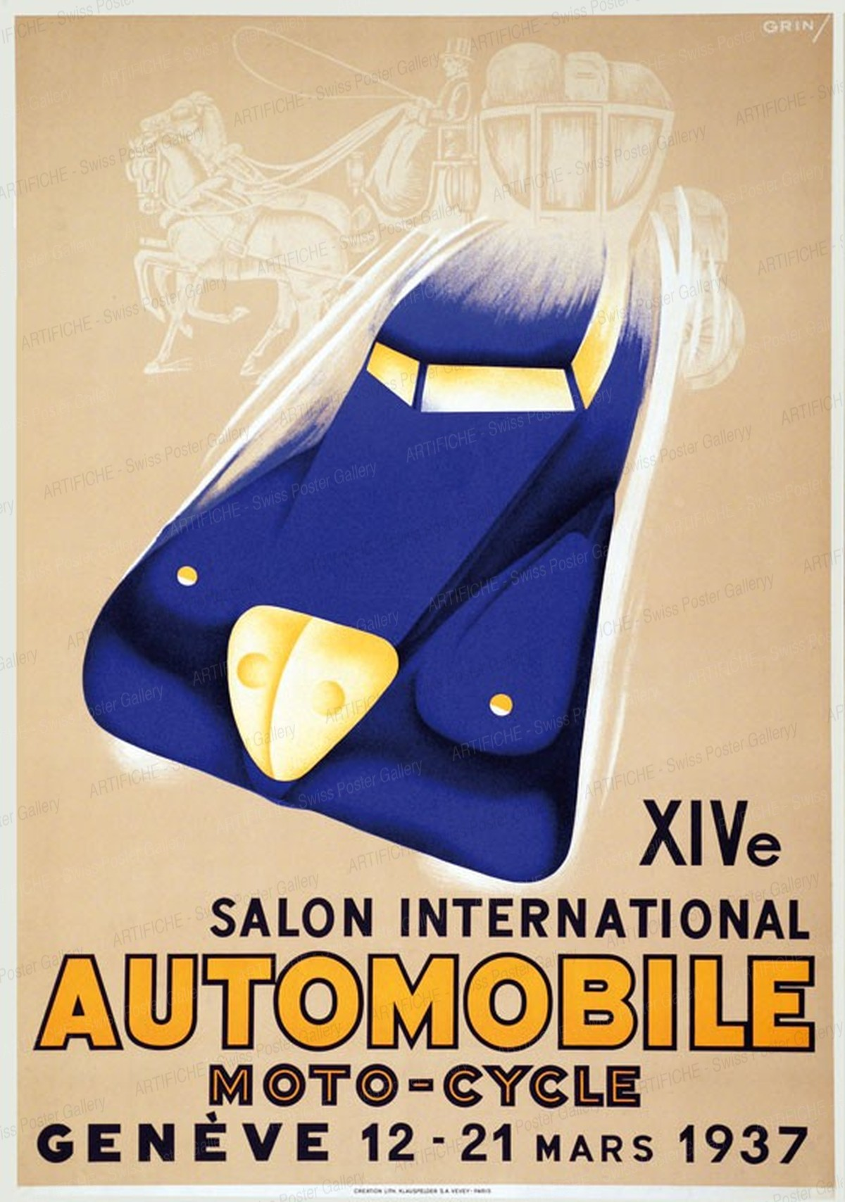 XIV. Salon International de l'Automobile Moto-Cycle Genève 1937, Edmond Grin