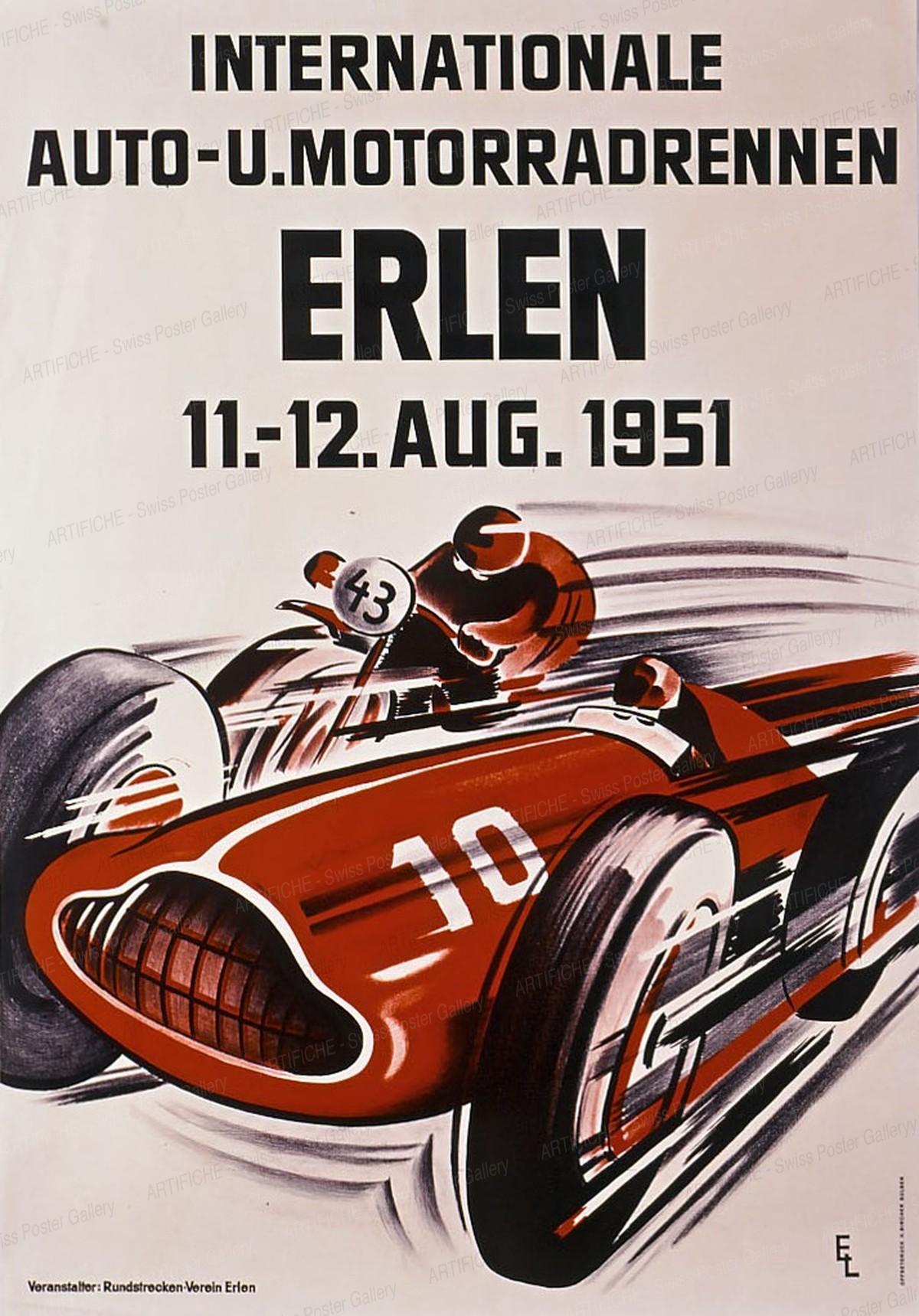 Internationale Auto- u. Motorradrennen Erlen 1951, Ernst Lehner