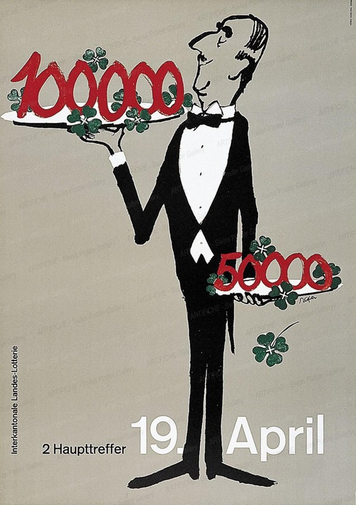 Landes Lotterie -2 Haupttreffer- 19. April, Rolf Gfeller