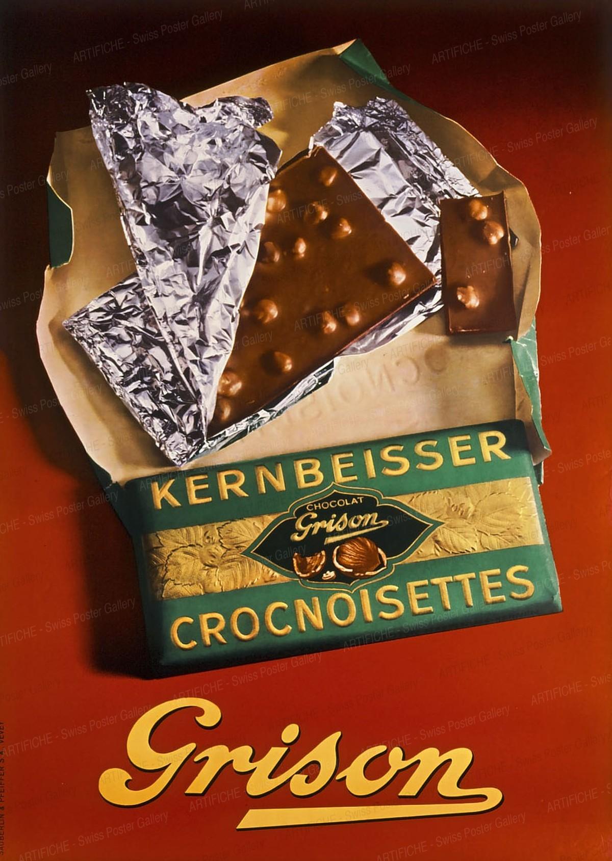 Grison Kernbeisser Crocnoisettes Chocolate, Artist unknown