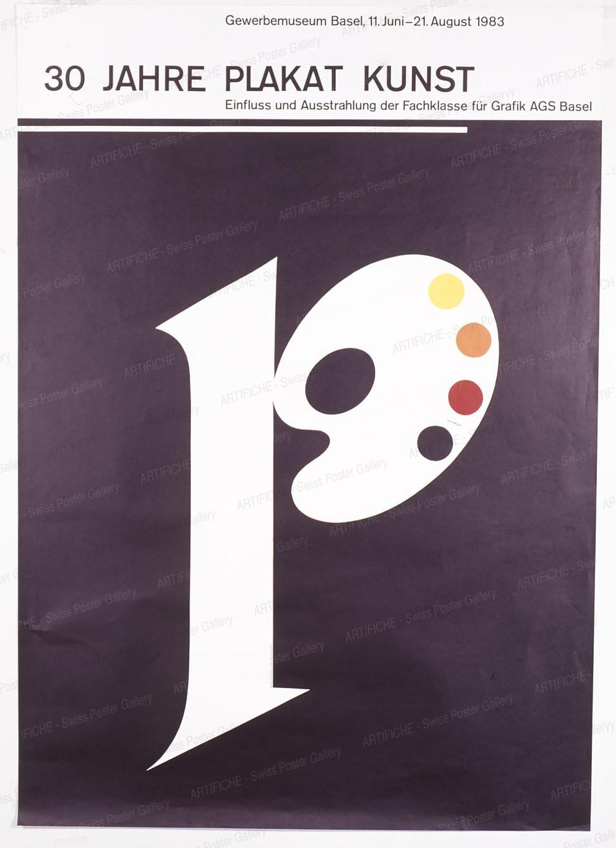 Gewerbemuseum Basel 1983 – 30 JAHRE PLAKATKUNST – Fachklasse für Grafik Basel, Armin Hofmann