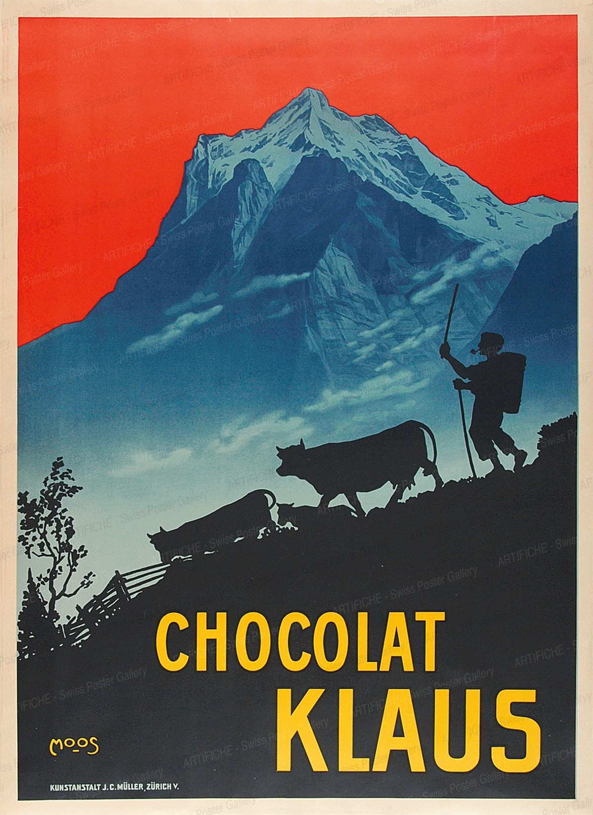 CHOCOLAT KLAUS, Carl Franz Moos