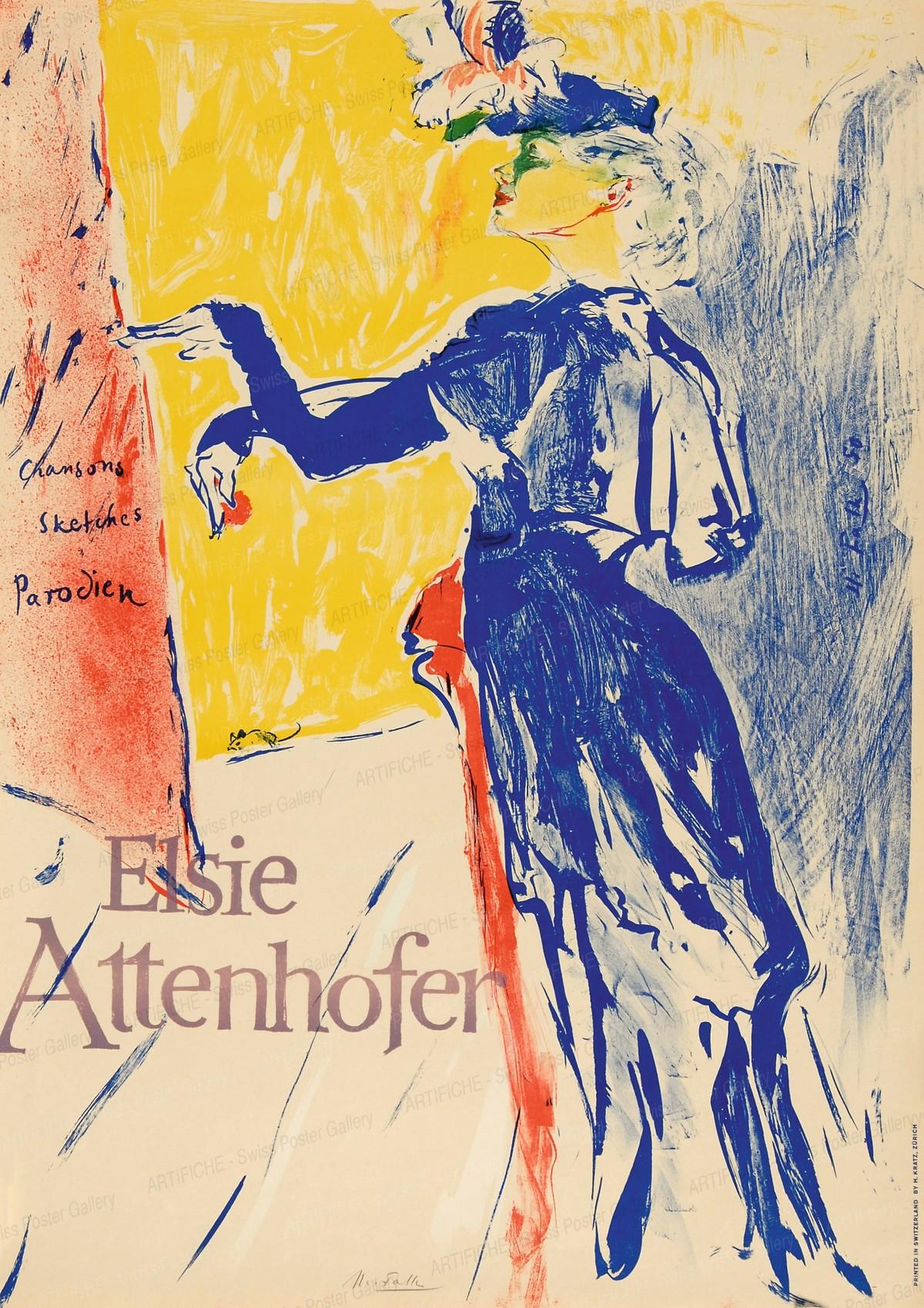Elsie Attenhofer, Hans Falk