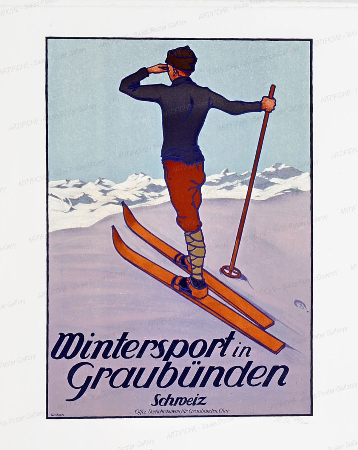 Winter Sports in the Grisons, Koch, Walther, d'après