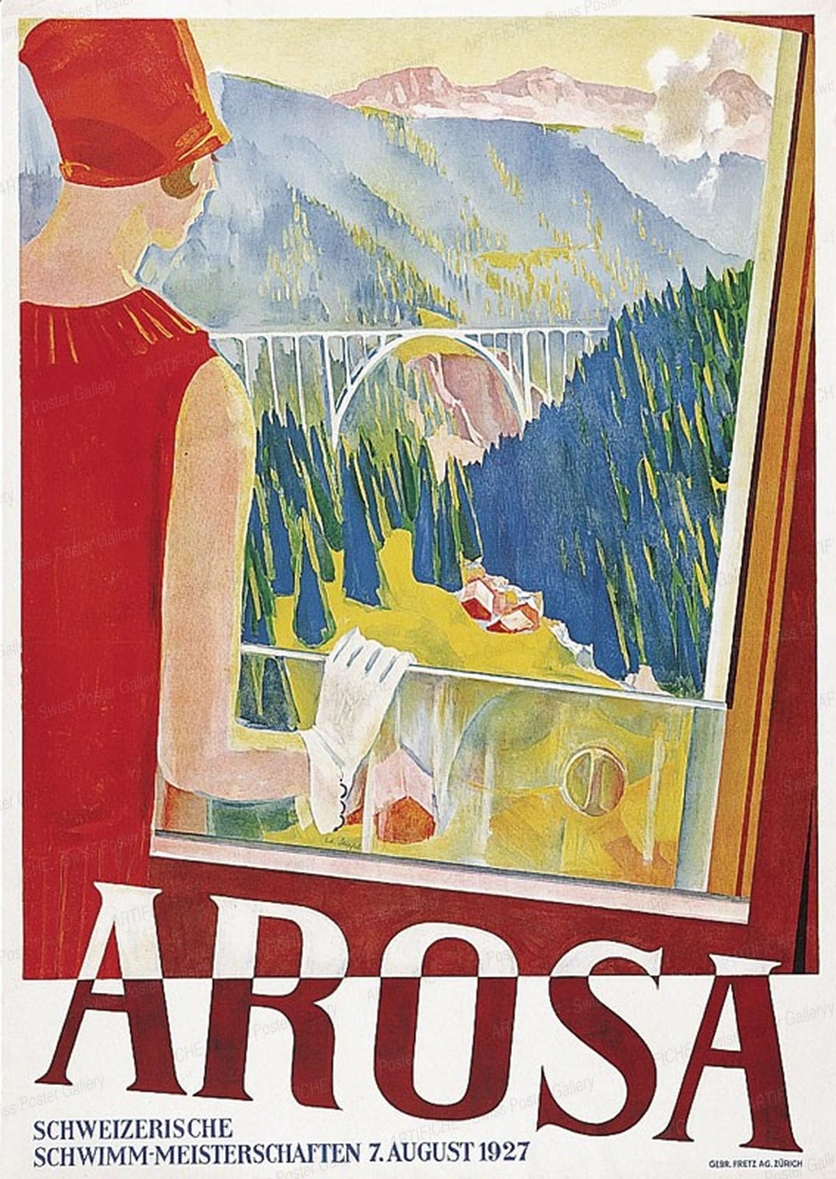 AROSA – Schweizerische Schwimmmeisterschaften – 7. August 1927, Edouard Stiefel