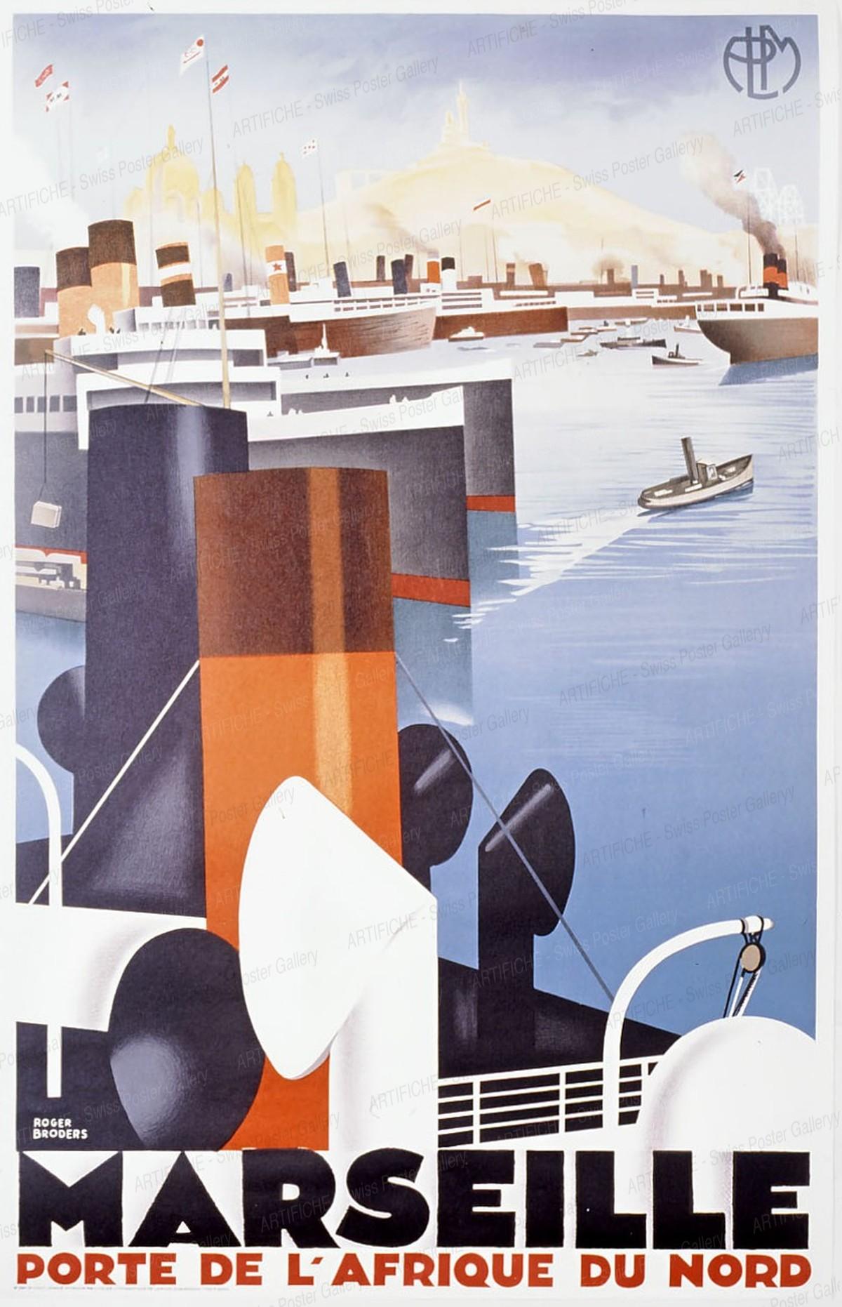 PLM Marseille – 1929 (reprint), Roger Broders