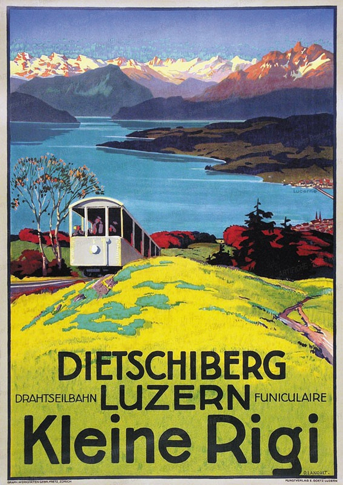 DIETSCHIBERG LUZERN – Kleine Rigi – Drahtseilbahn Funiculare, Otto Landolt