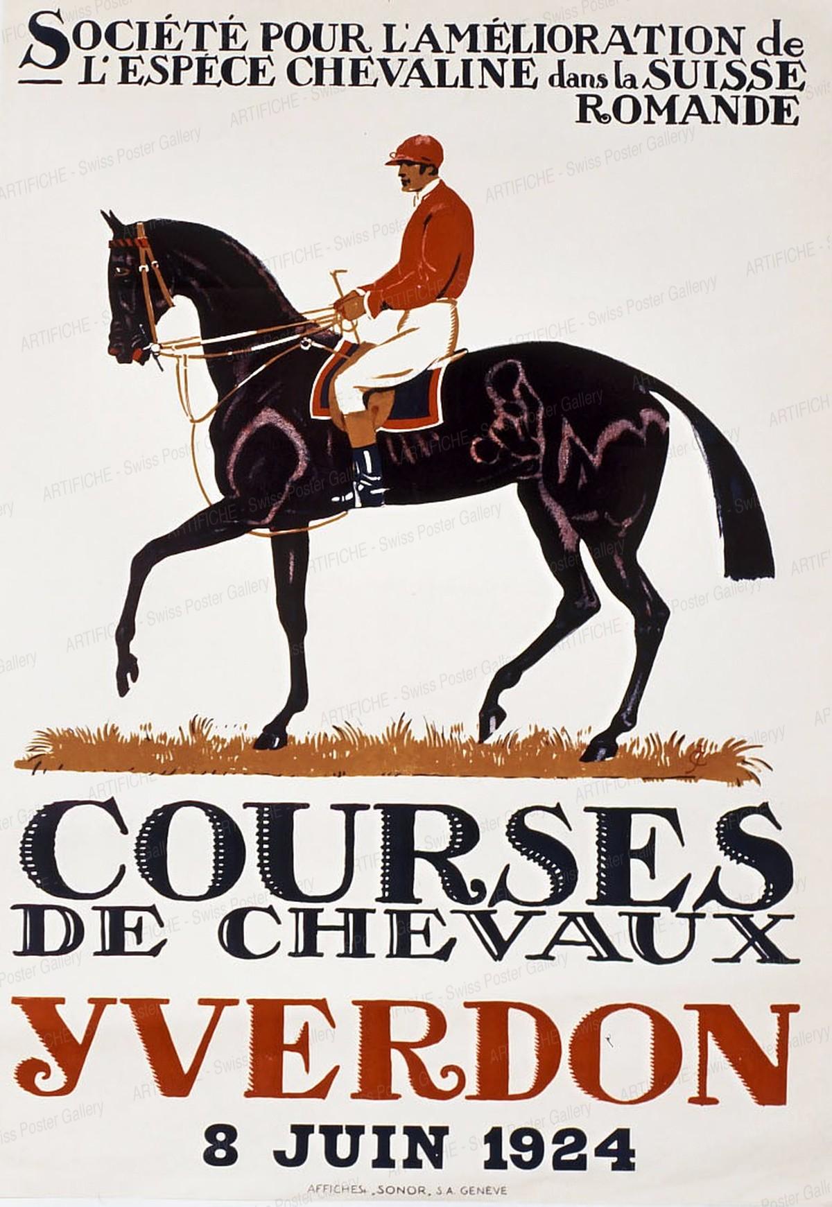 COURSES DE CHEVAUX YVERDON 1924, Jules-Ami Courvoisier