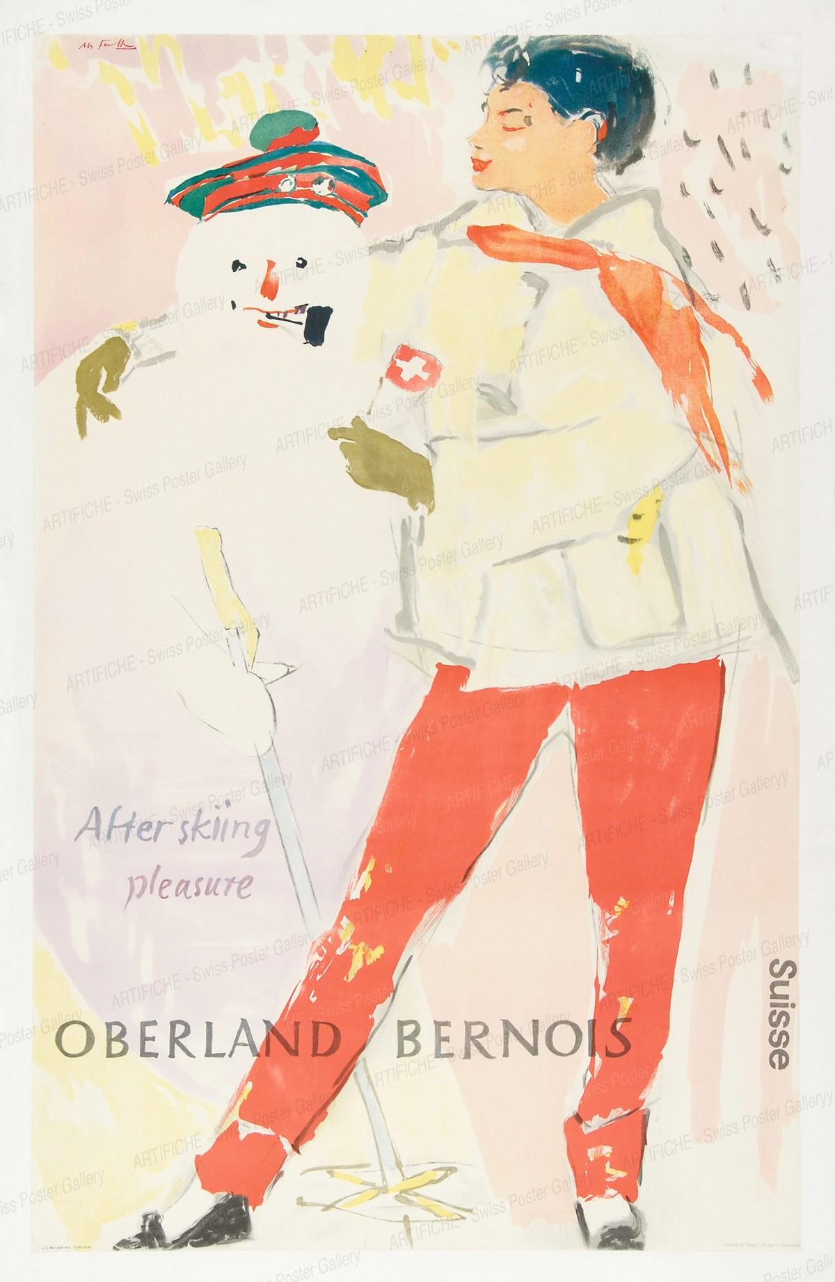OBERLAND BERNOIS – Suisse – After skiing pleasure, Hans Falk