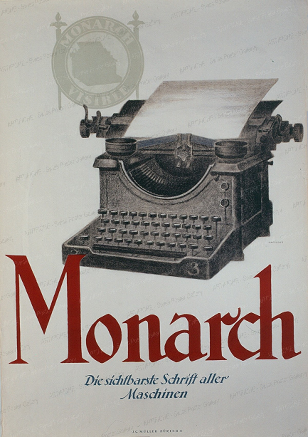 Monarch – Typewriter, Hermann Alfred Koelliker
