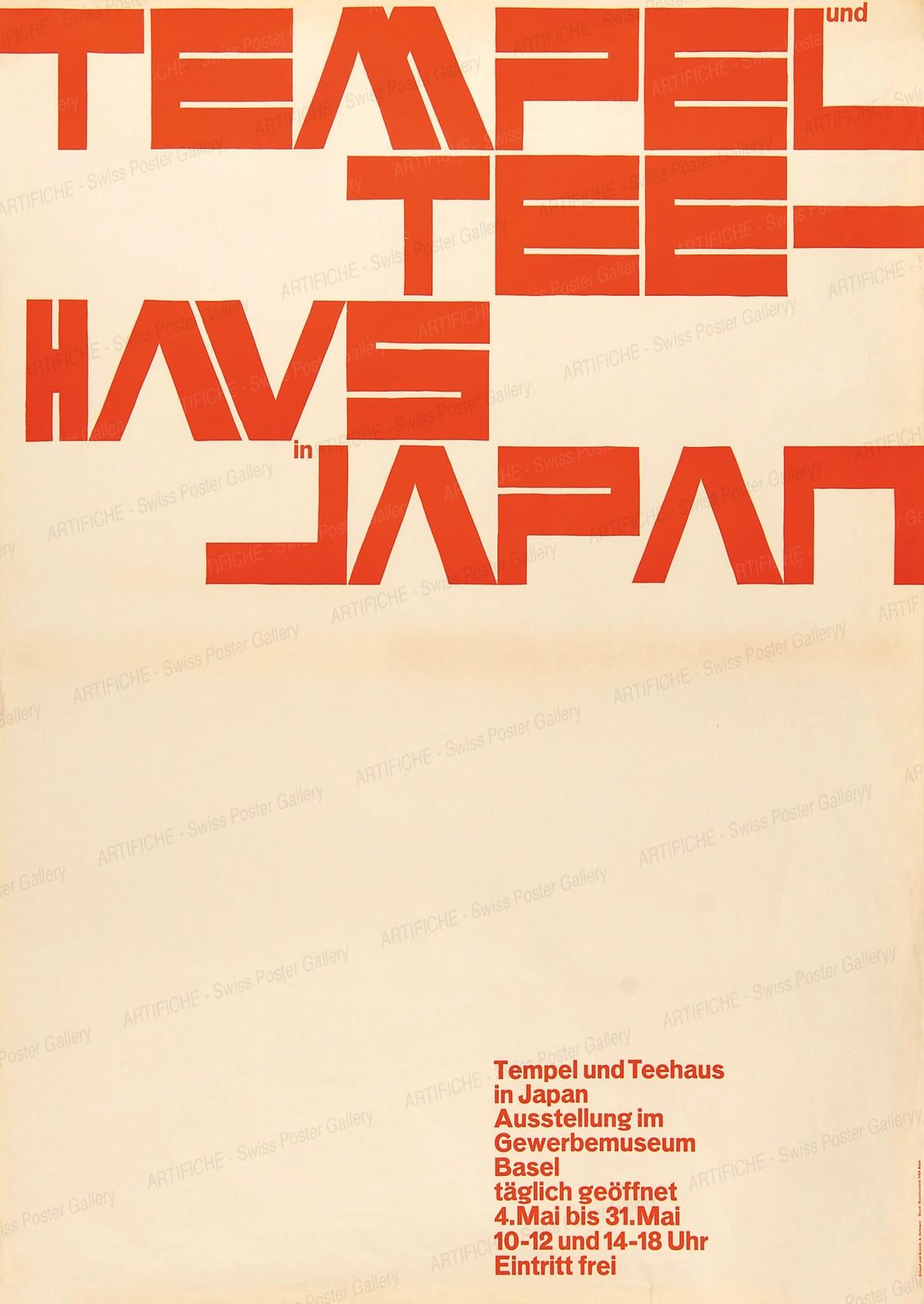 TEMPEL und TEEHAUS in JAPAN – Ausstellung im Gewerbemuseum Basel, Armin Hofmann