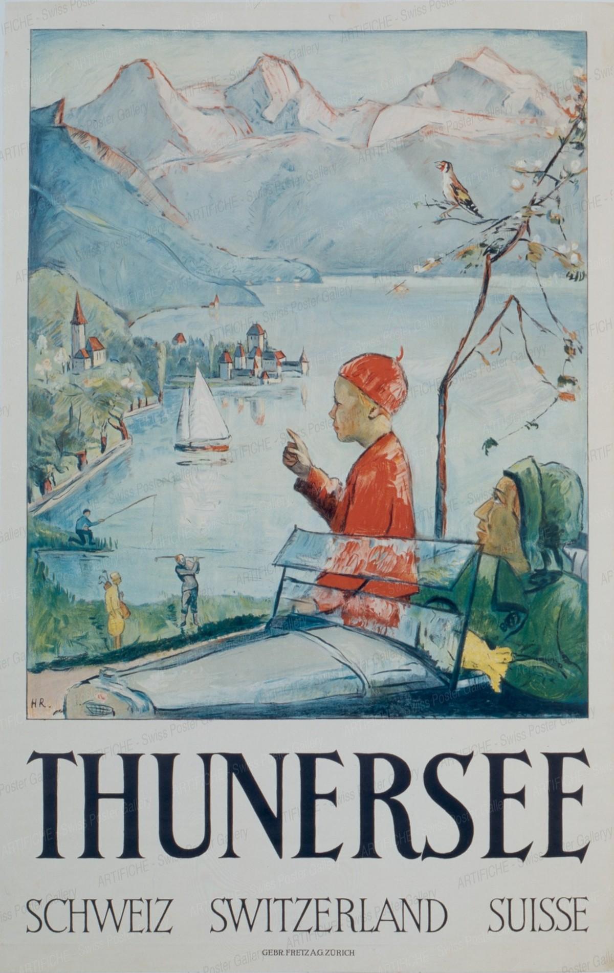 THUNERSEE Schweiz – Switzerland – Suisse, Monogram HR