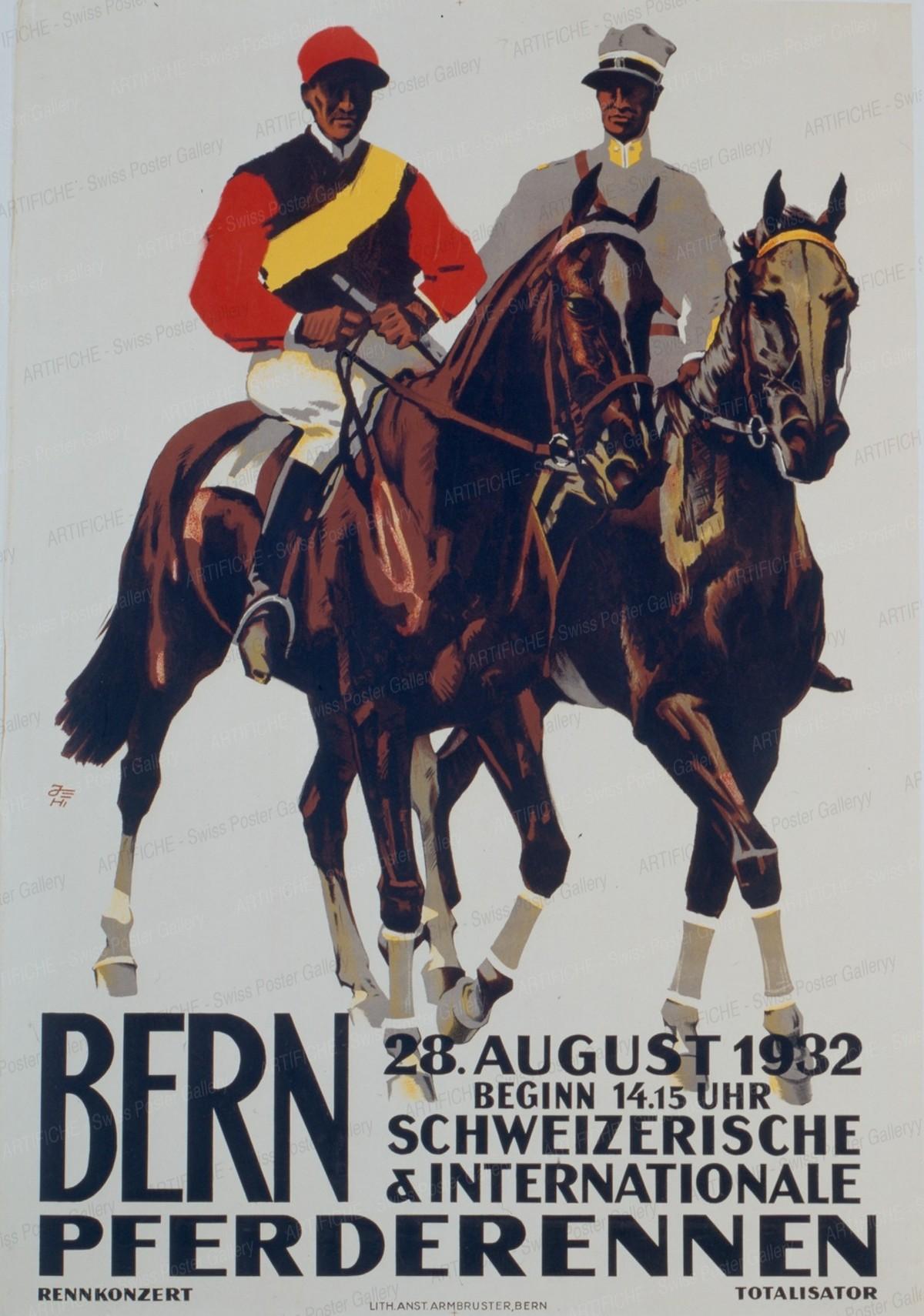 Bern, Pferderennen, 1932, Iwan Edwin Hugentobler