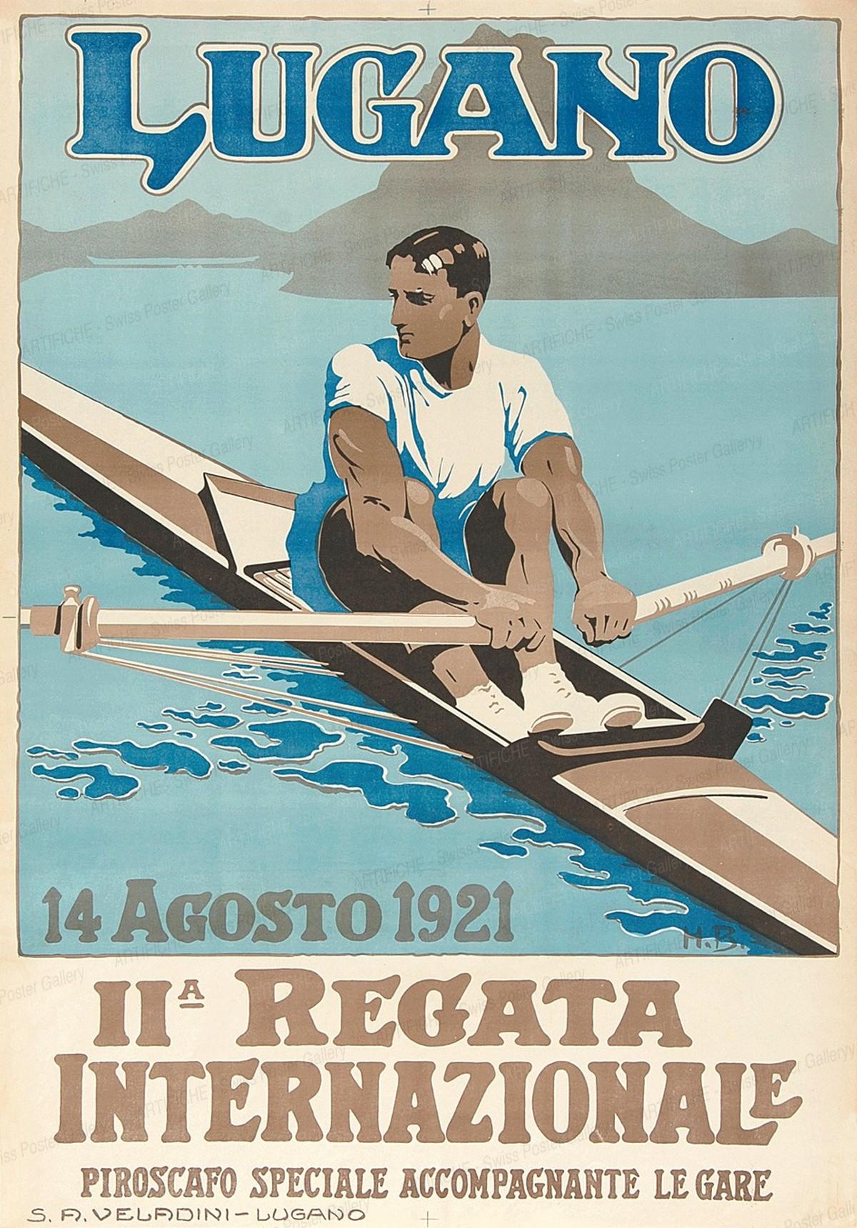 LUGANO – IIa Regata Internazionale – 14 Agosto 1921, Monogram H.B.