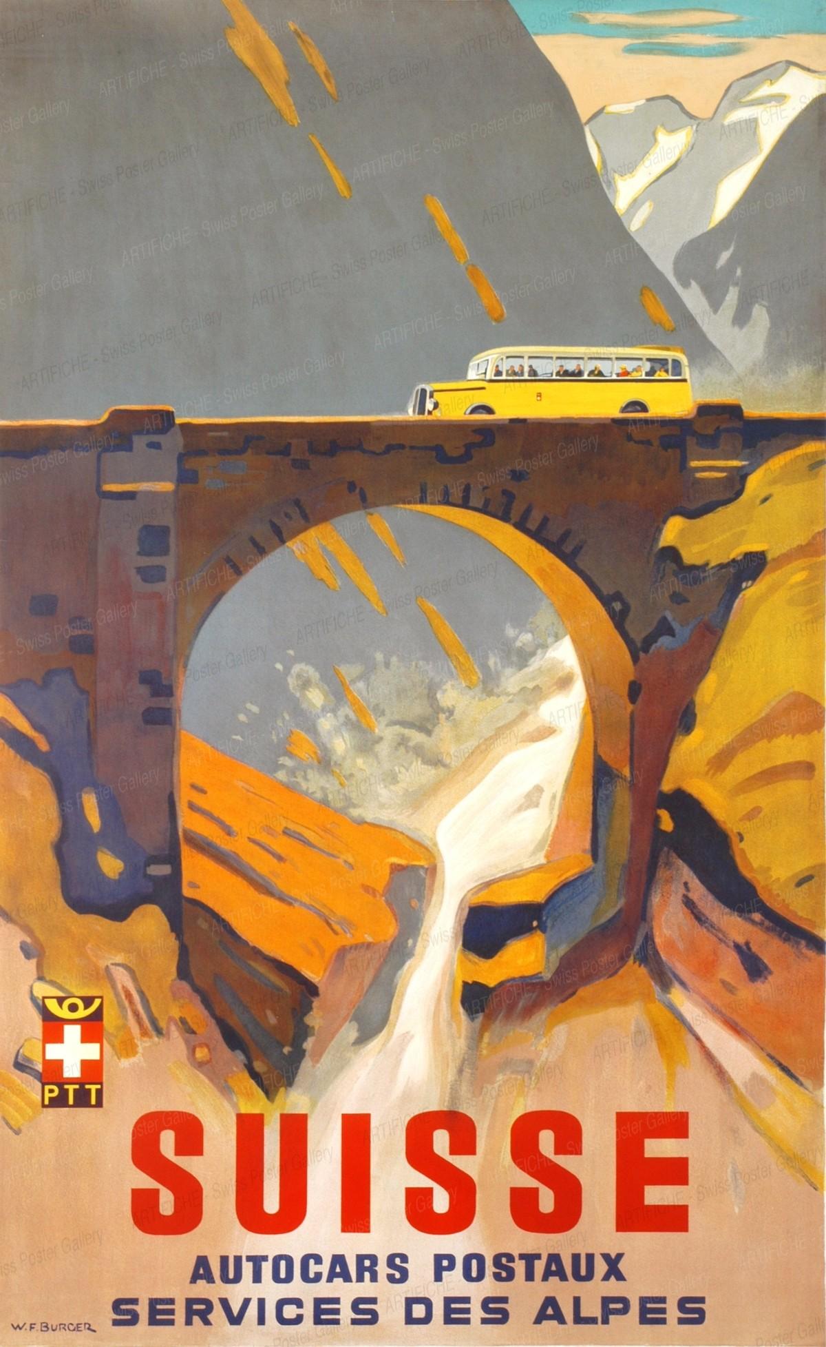 SUISSE – Autocars Postaux – Service des Alpes, Wilhelm Friedrich Burger