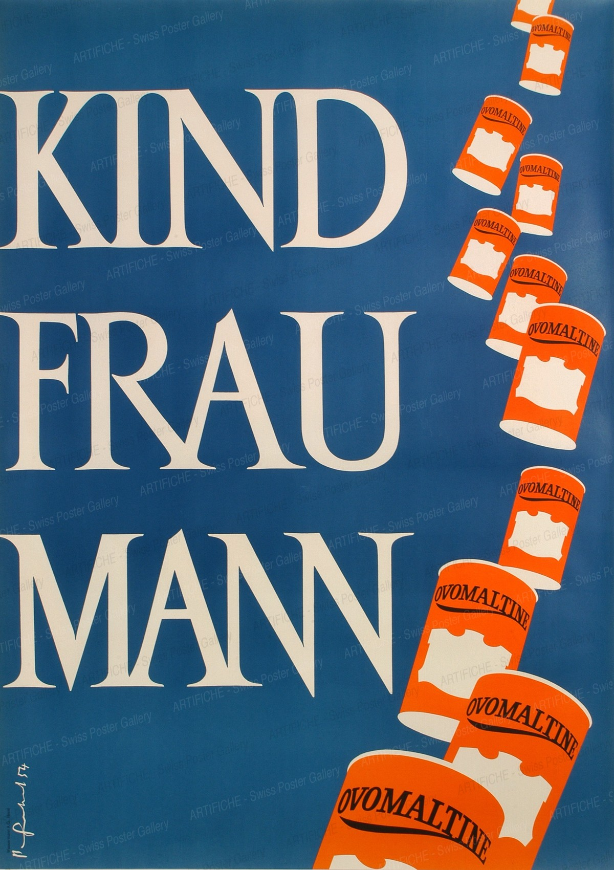 KIND FRAU MANN – Ovomaltine, Pierre Gauchat