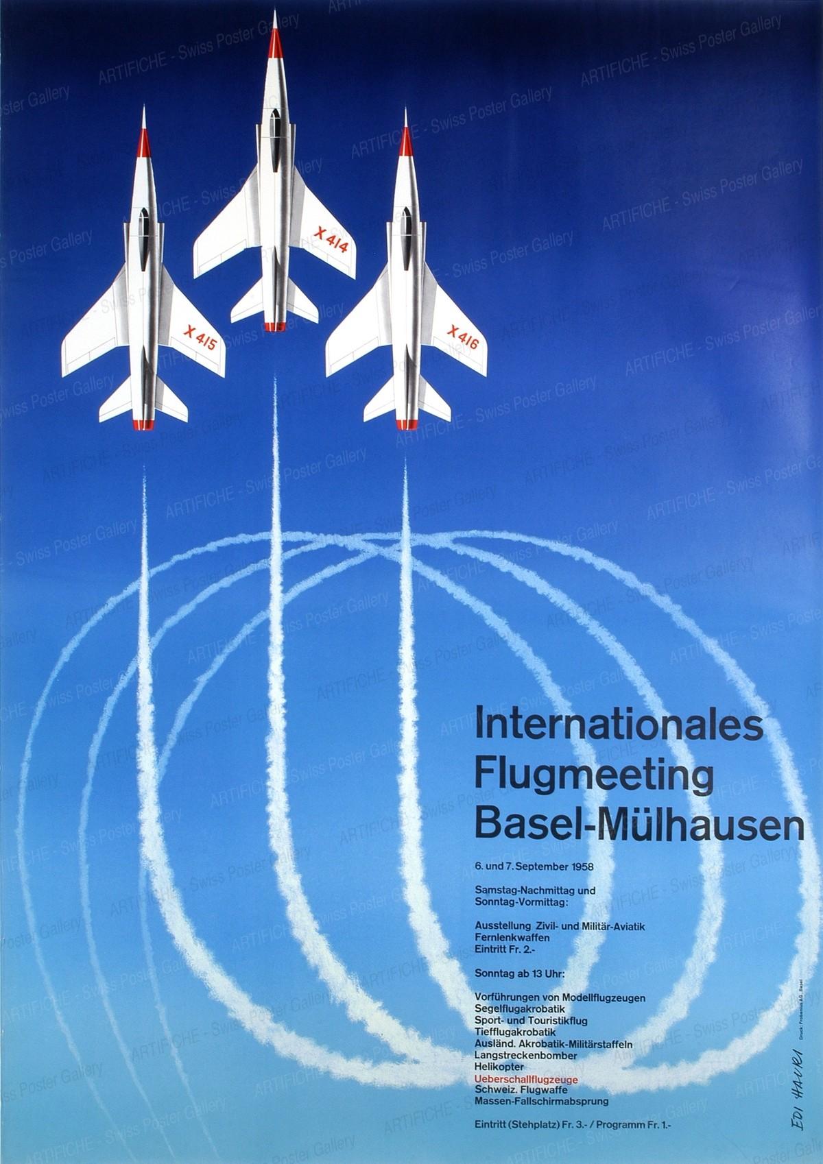 Internationales Flugmeeting Basel-Mülhausen 1958, Edi Hauri