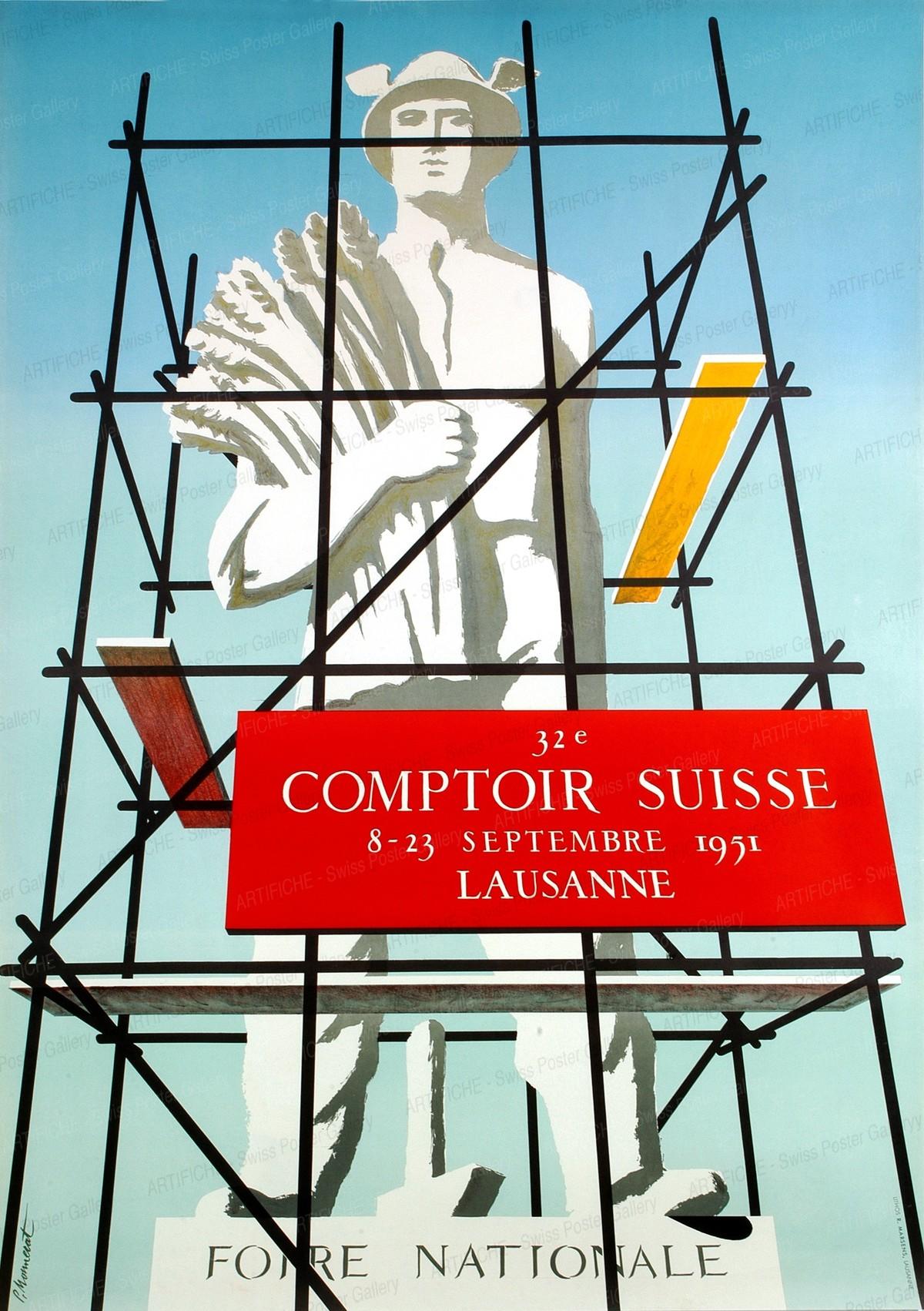 32e Foire National Comptoir Suisse 8 – 23 Septembre 1951 Lausanne, Pierre Monnerat