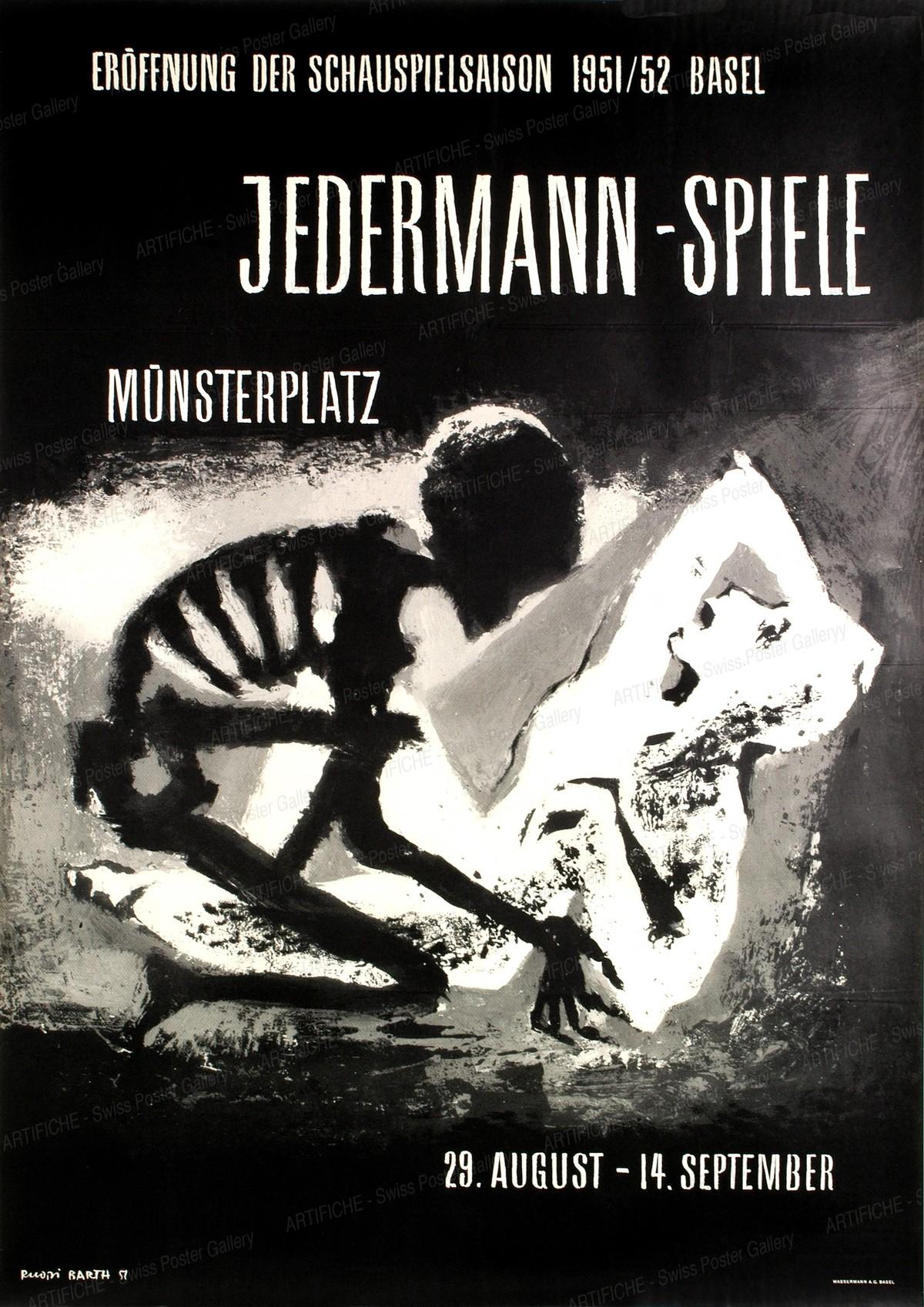 Eröffnung der Schauspielsaison 1951 / 52 Basel – Jedermann-Spiele – Münsterplatz Basel, Ruodi Barth