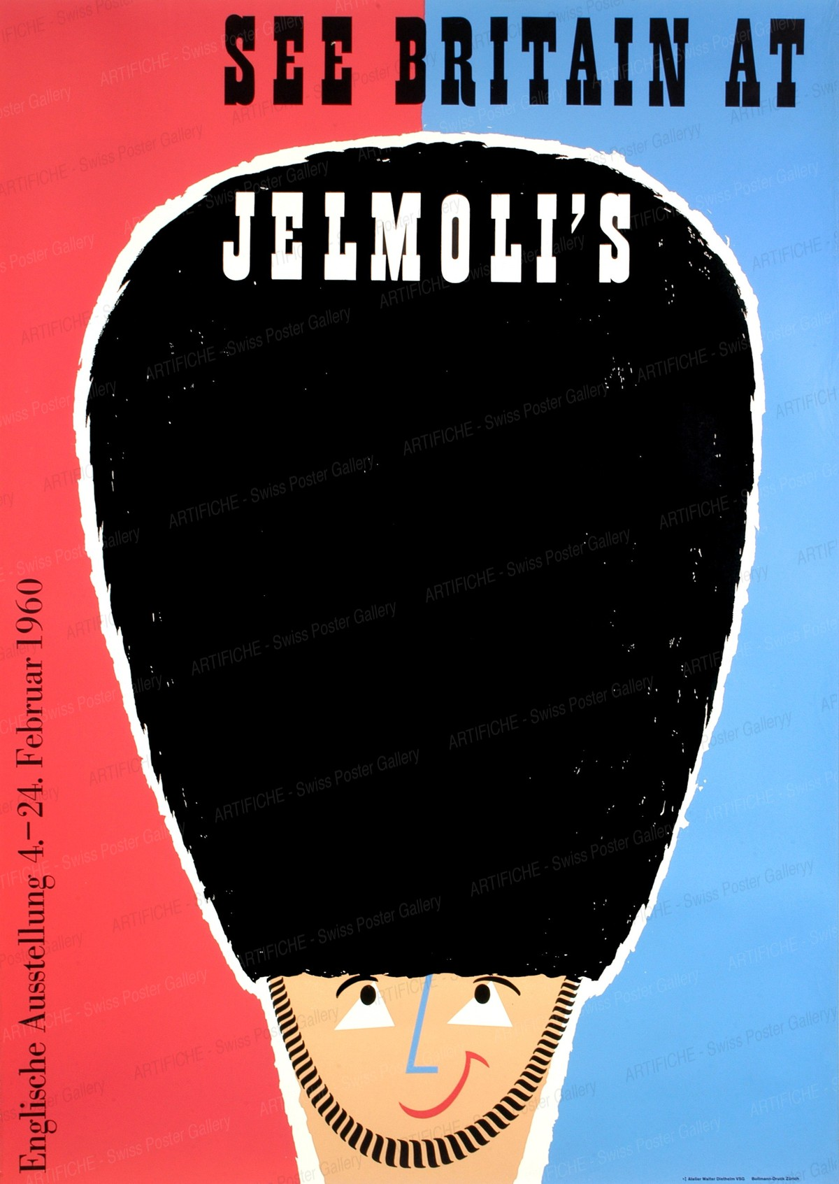 Jelmoli – See Britain at Jelmoli's 1960, Walter Diethelm