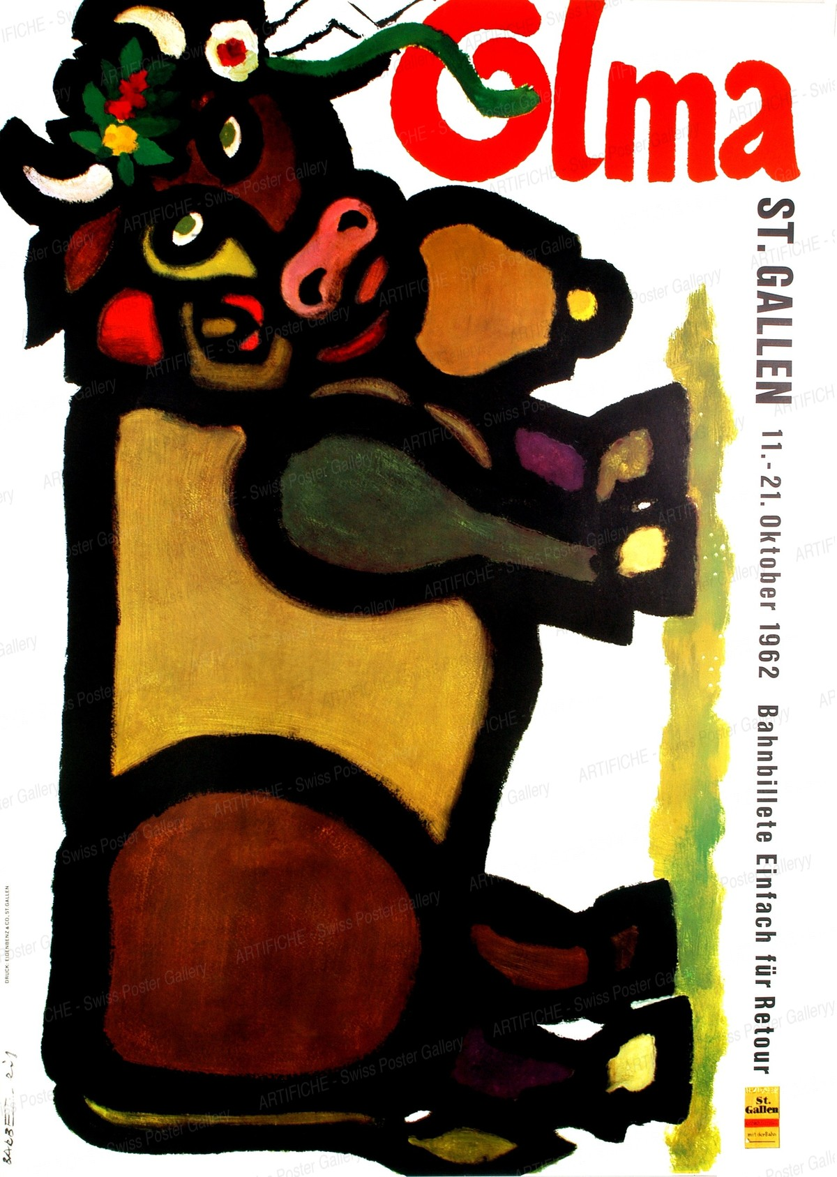 Olma St. Gallen 11. – 21. Oktober 1962, Franco Barberis
