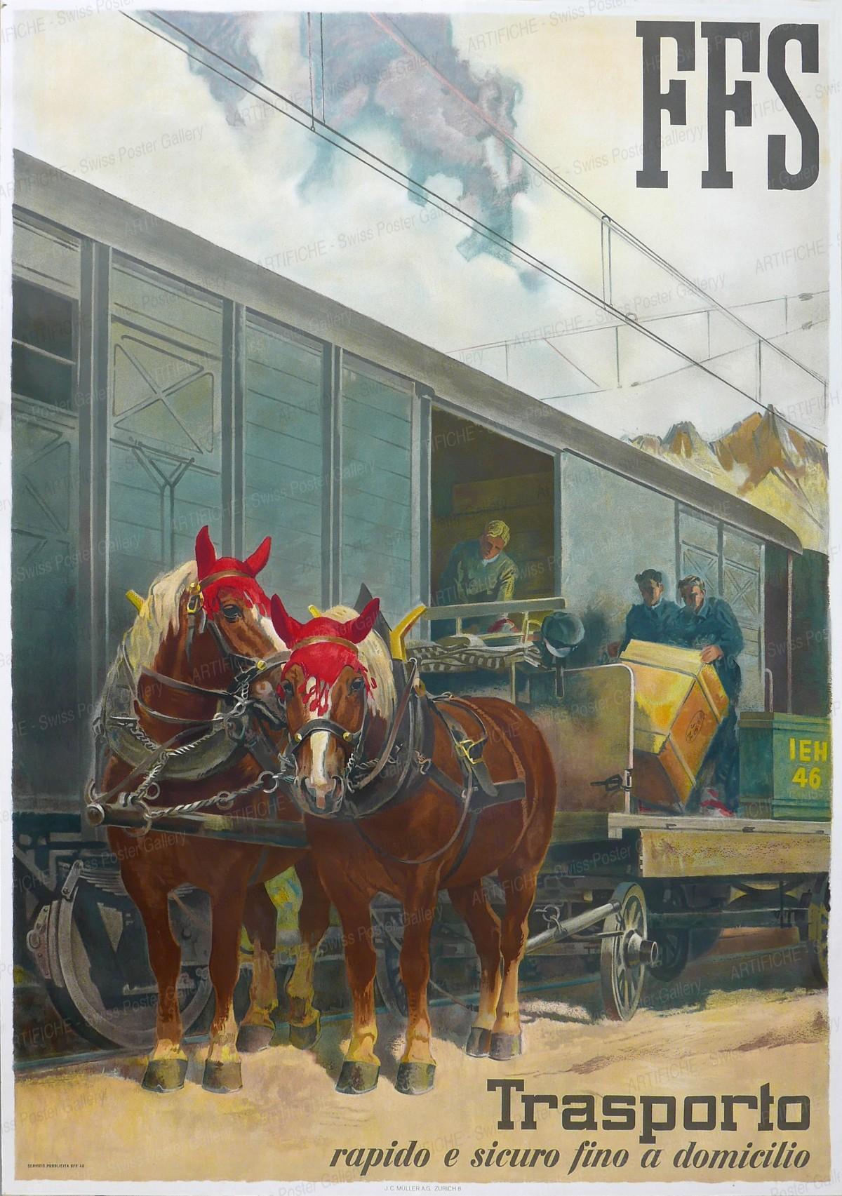 CFF – Transports rapides et sûrs au domicile, Iwan Edwin Hugentobler