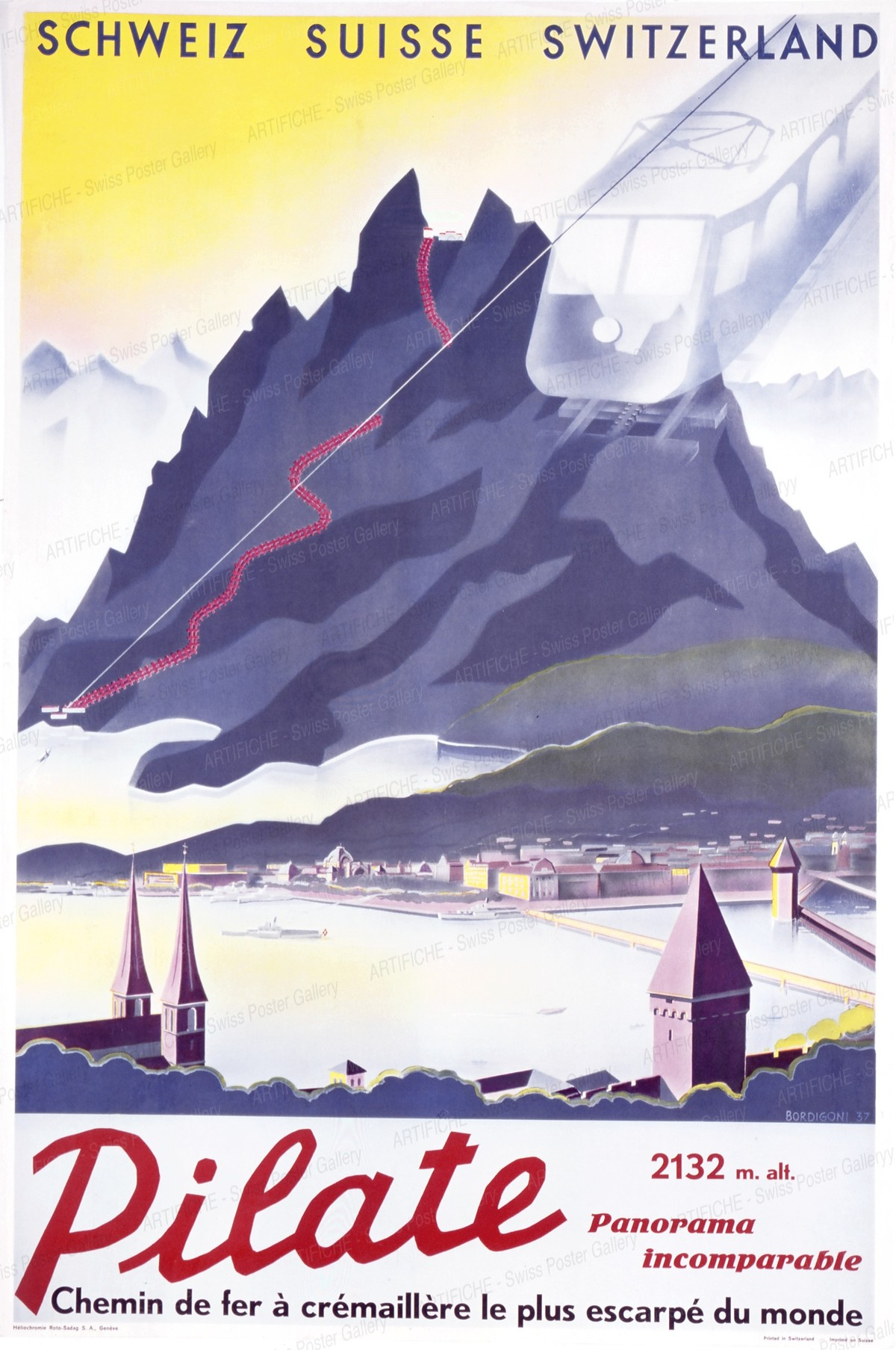 Pilate – 2132 m – Chemin de fer à crémaillère le plus escarpé du monde, William Bordigoni