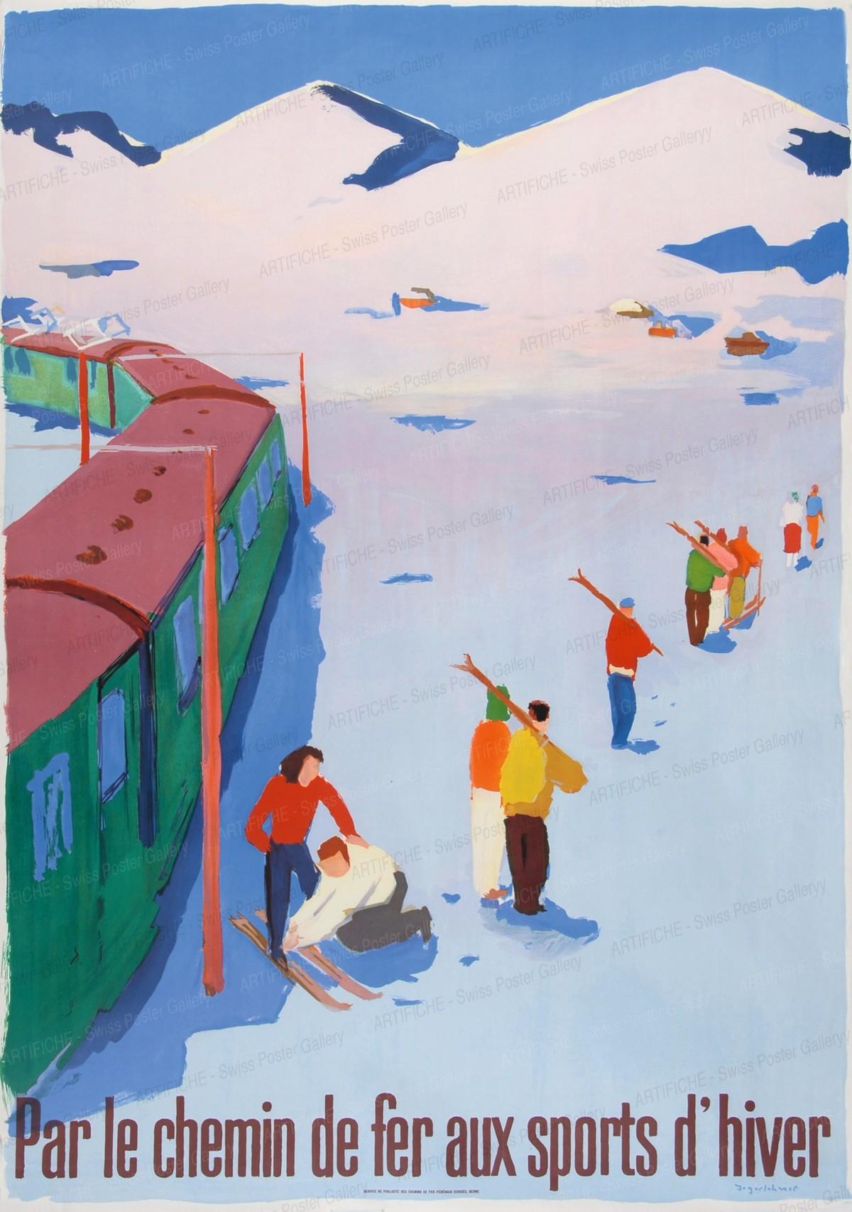 Switzerland – Par le chemin de fer aux sports d'hiver, Hans Jegerlehner
