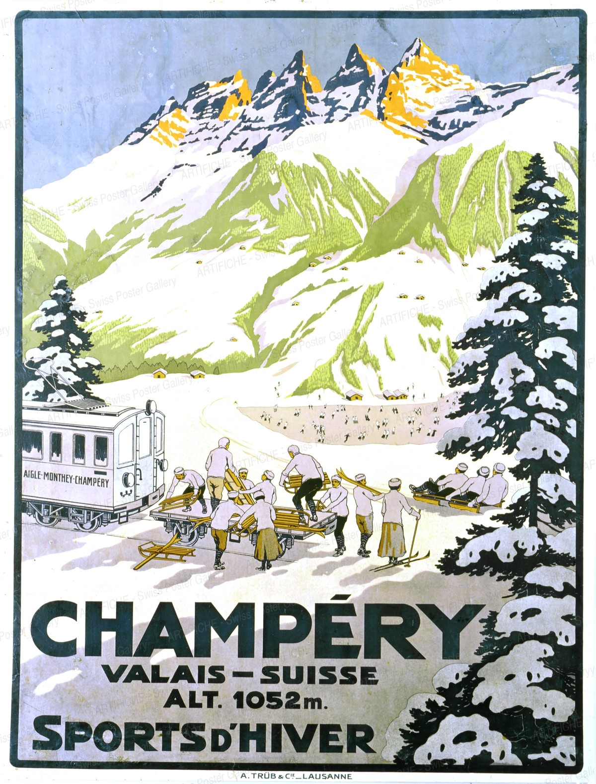 CHAMPÉRY – Valais – Sports d'hiver, Artist unknown