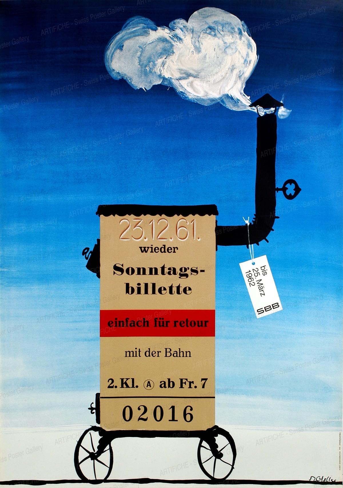 23.12.61 – Wieder Sonntagsbillete mit der Bahn, Rolf Gfeller
