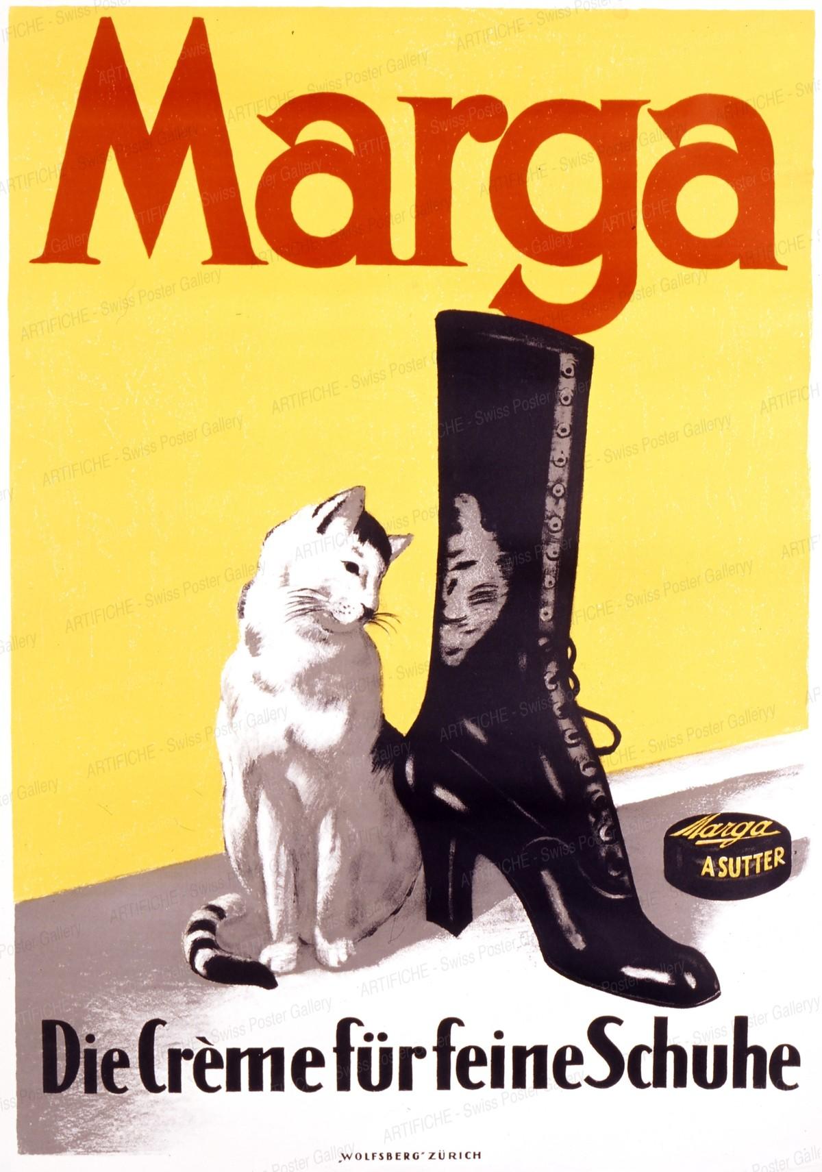 Marga – Die Crème für feine Schuhe, Artist unknown