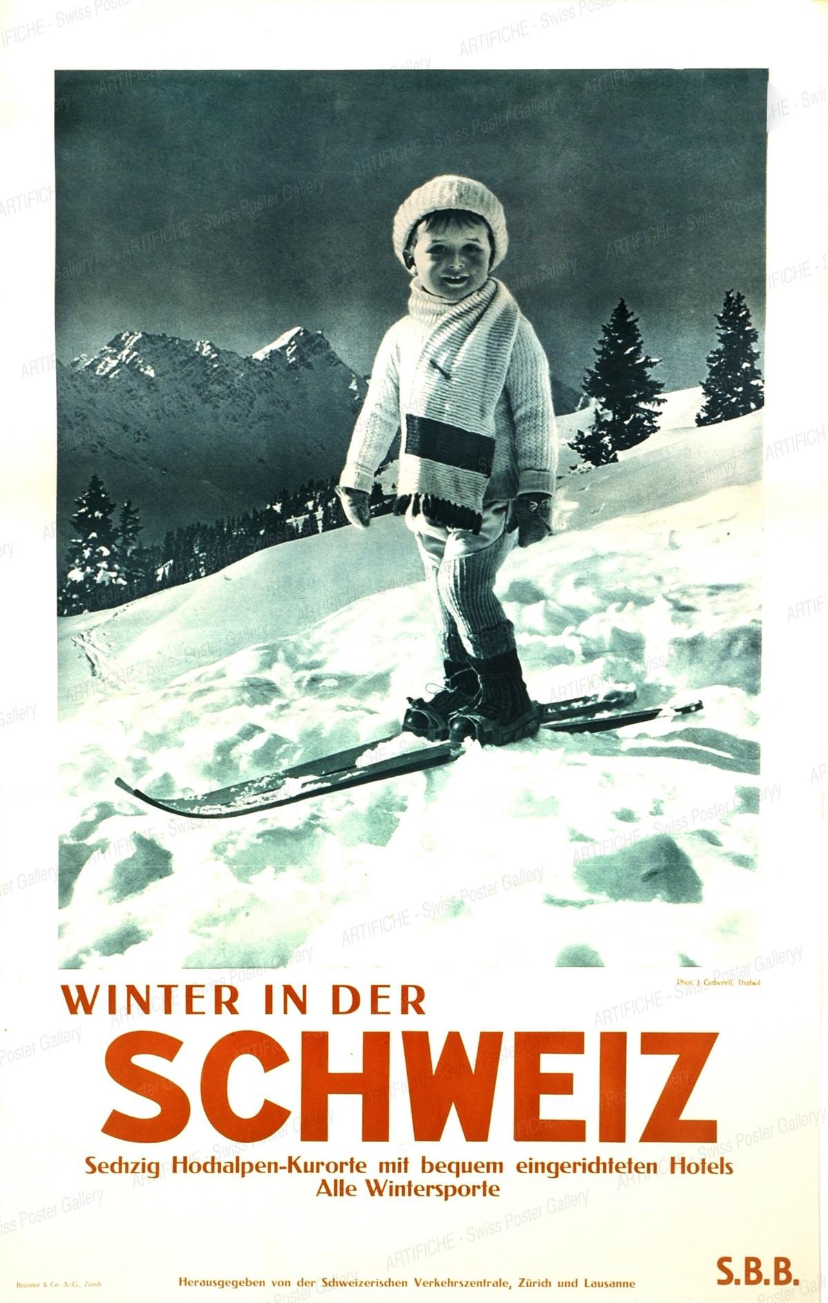 Winter in Switzerland, Jean Gaberell
