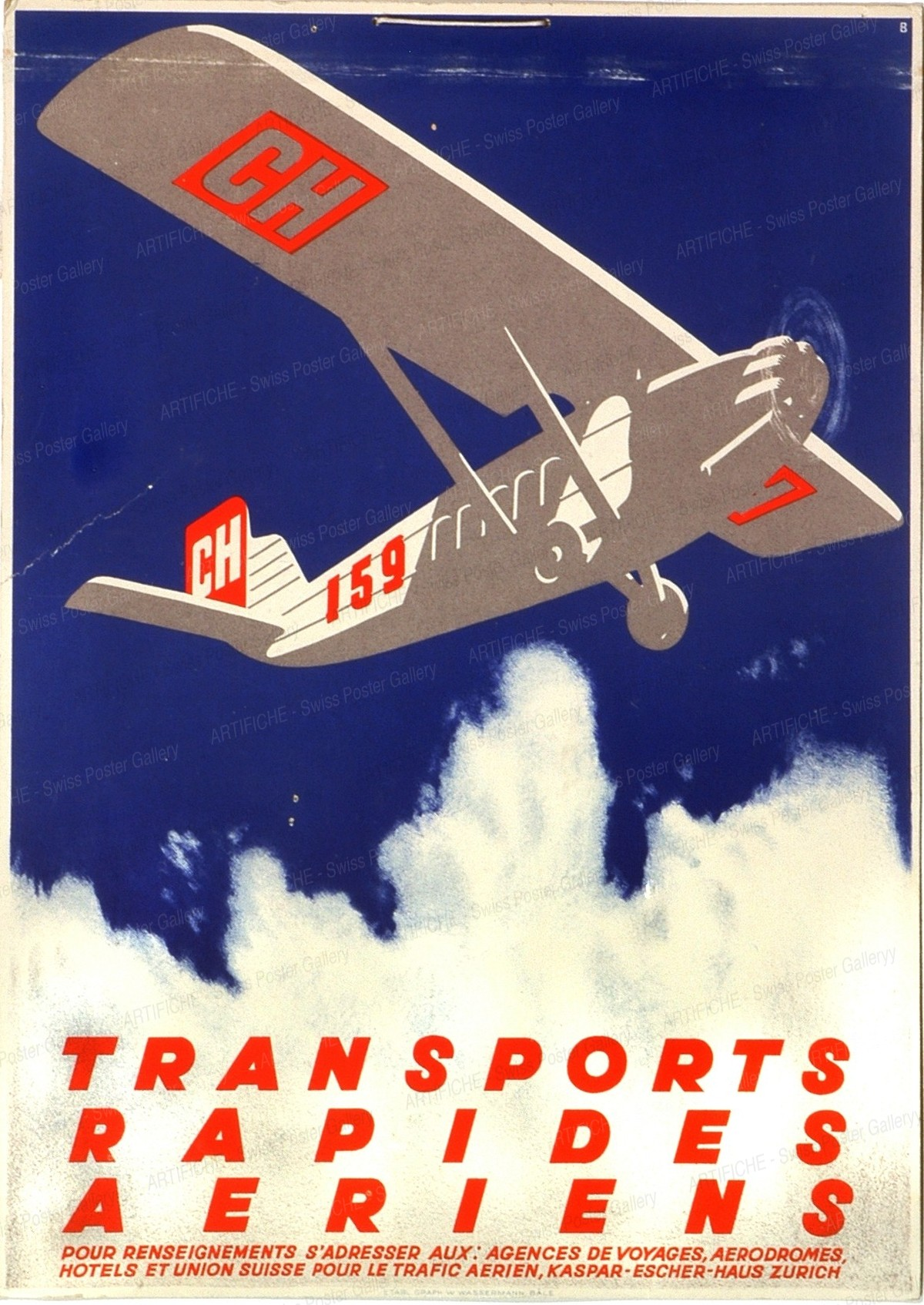 TRANSPORTS RAPIDES AERIENS – CH 159, Otto Baumberger