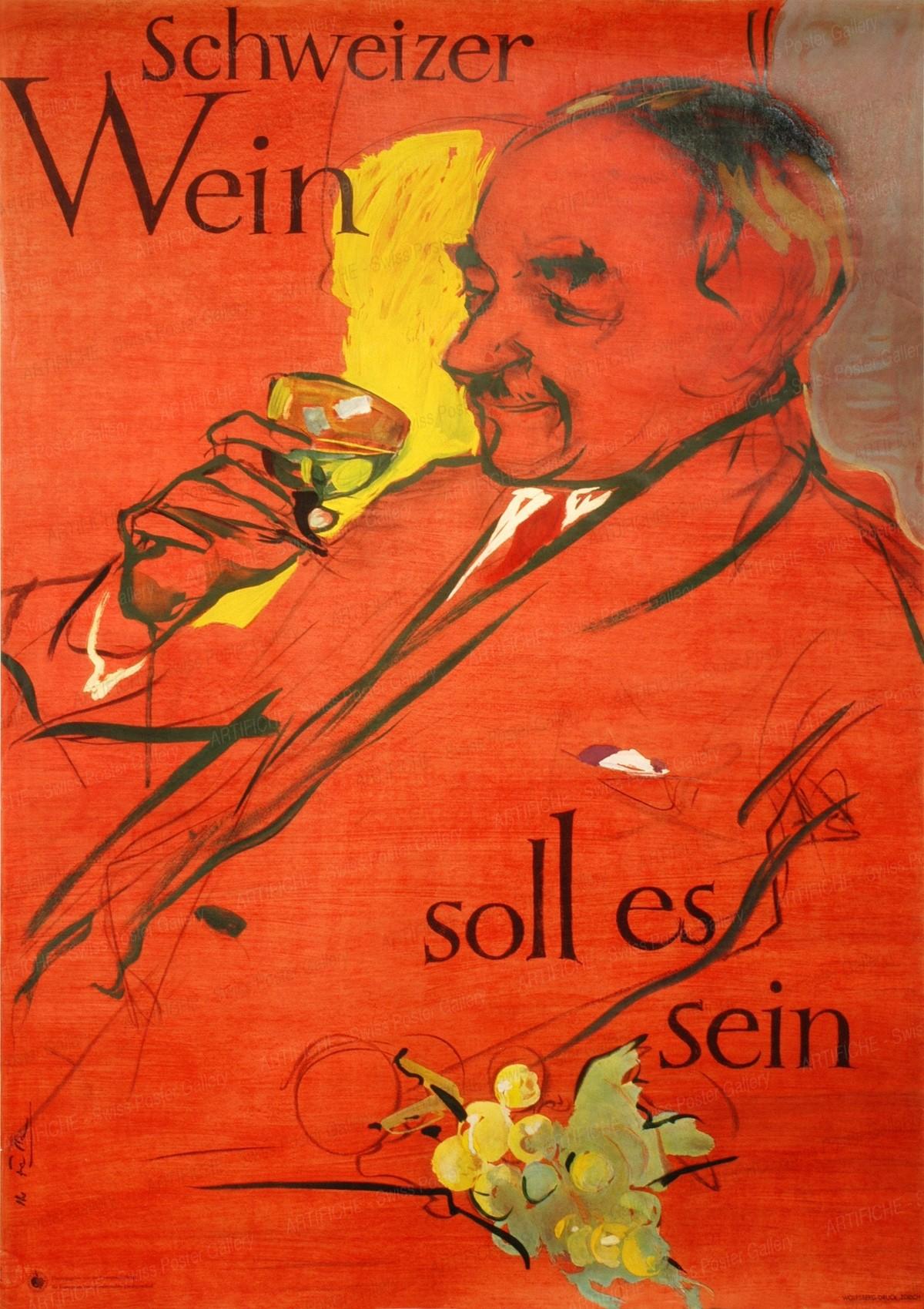 Schweizer Wein soll es sein, Hans Falk