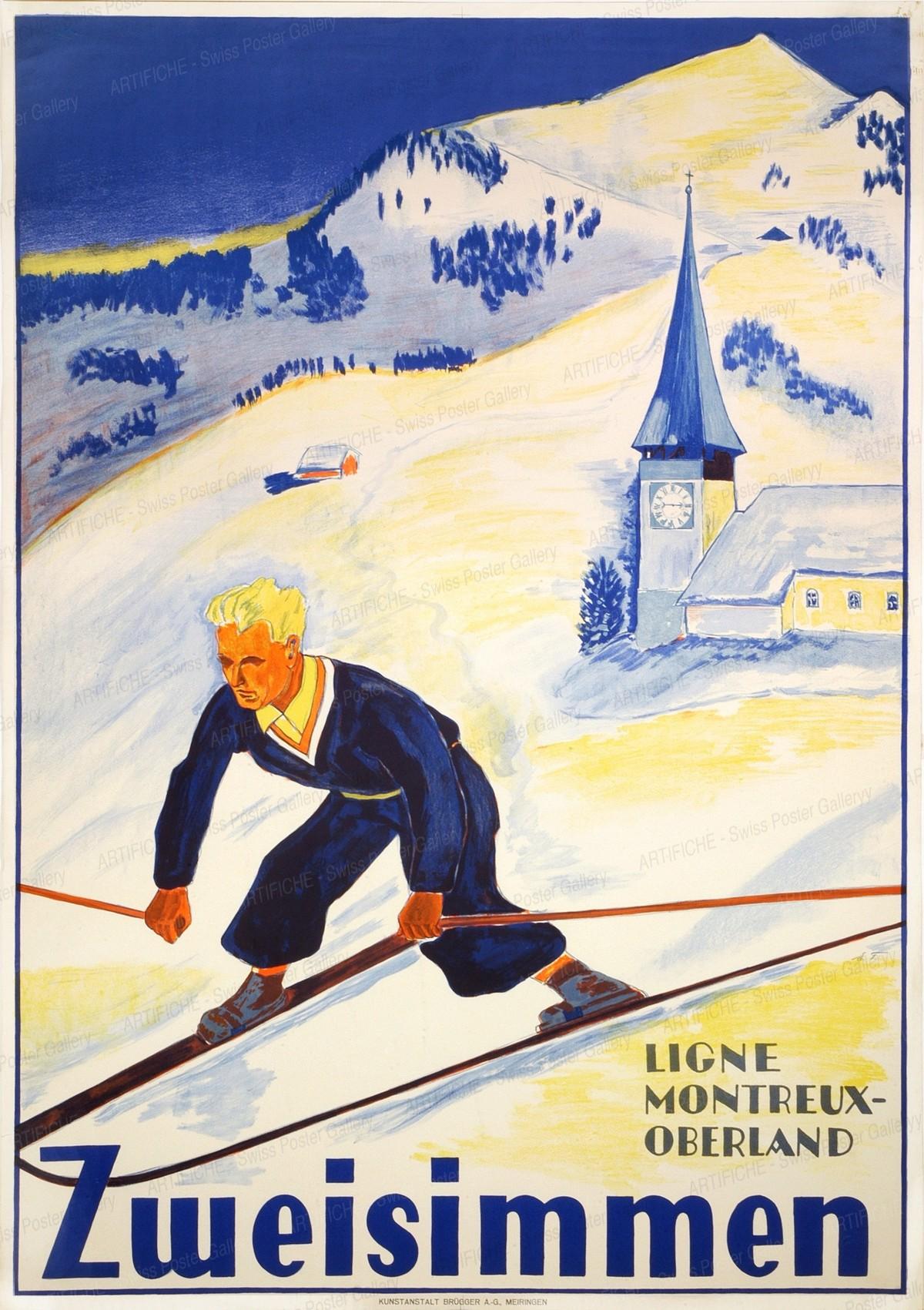 Zweisimmen – Ligne Montreux-Oberland, Monogram EF