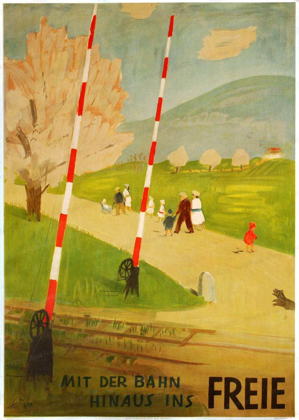 Mit der Bahn hinaus ins Freie, Ernst Morgenthaler