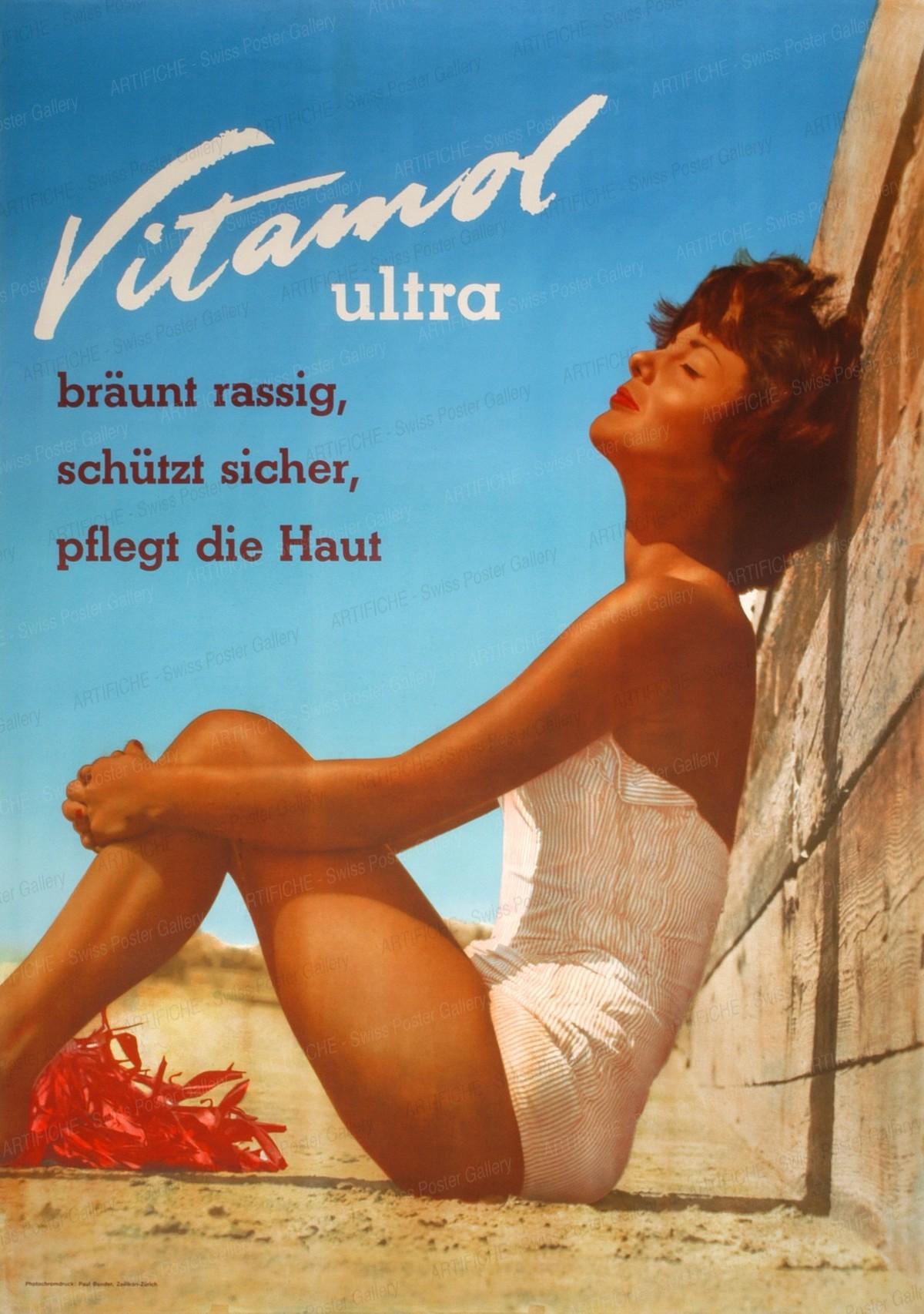 Vitamol – bräunt rassig, schützt sicher, pflegt die Haut, Artist unknown
