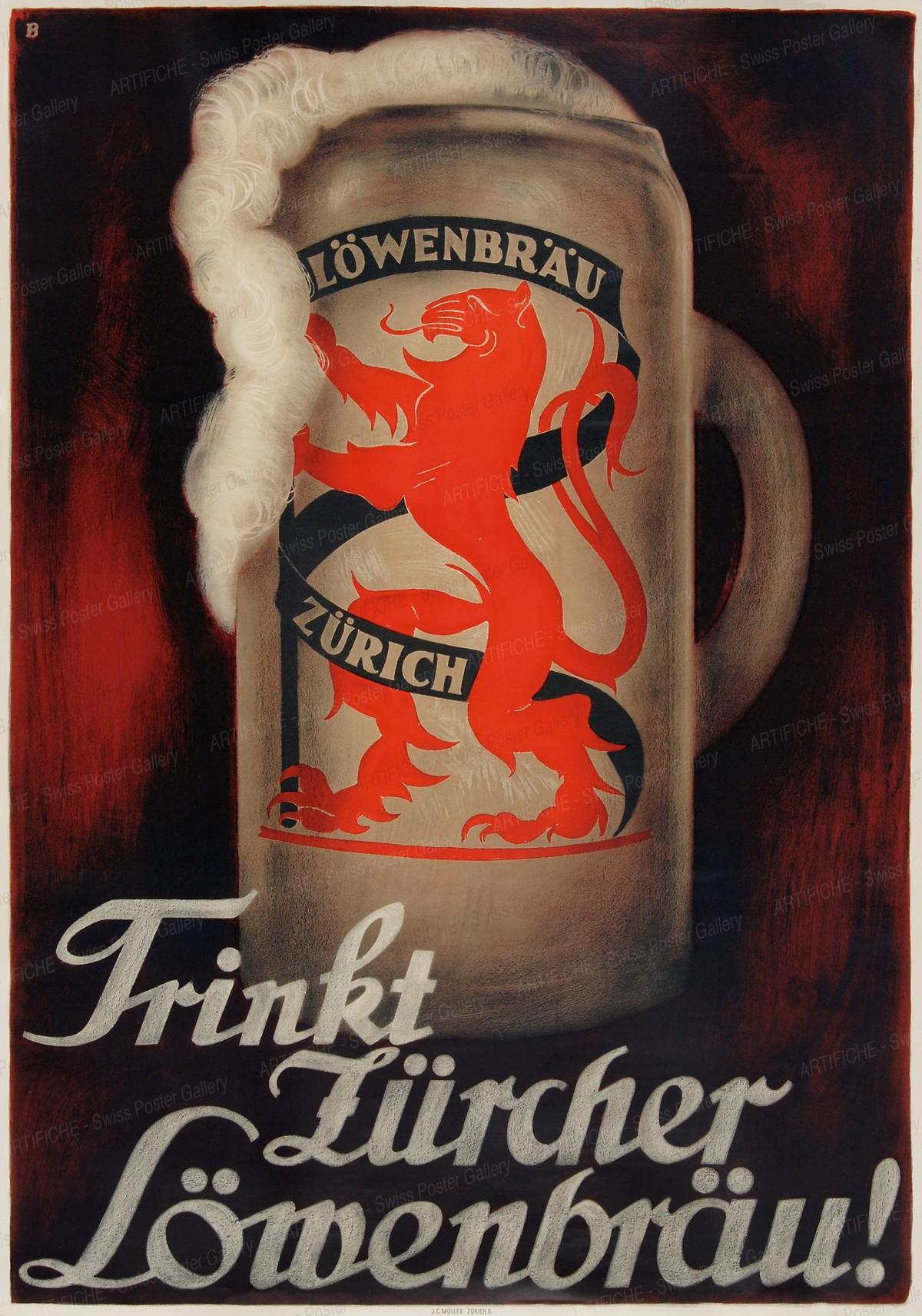Lowenbrau Zurich Beer, Otto Baumberger