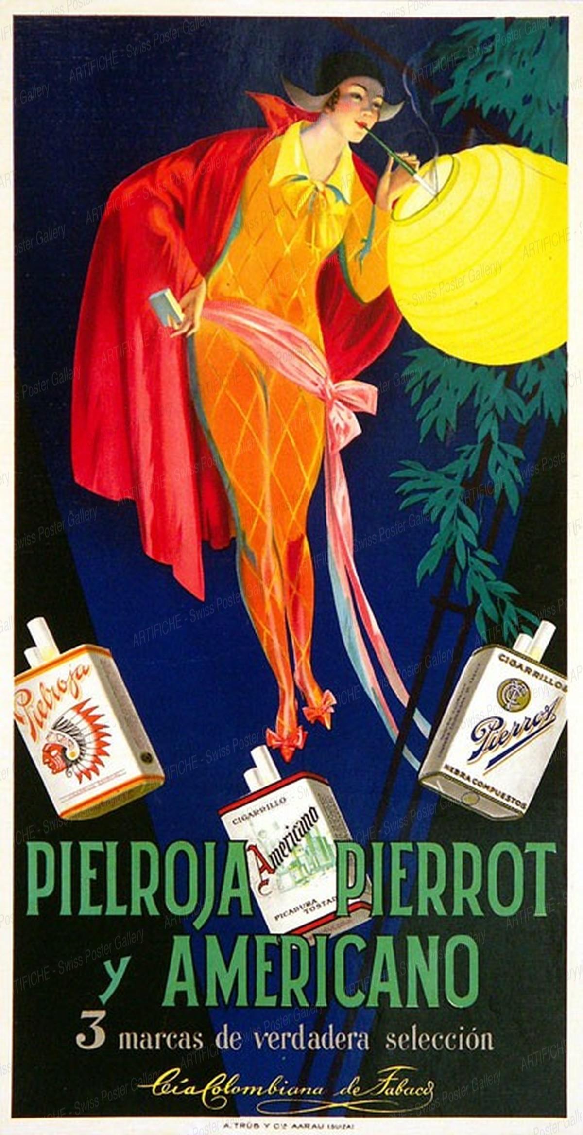 PIELROJA, PIERROT and AMERICANO, Artist unknown