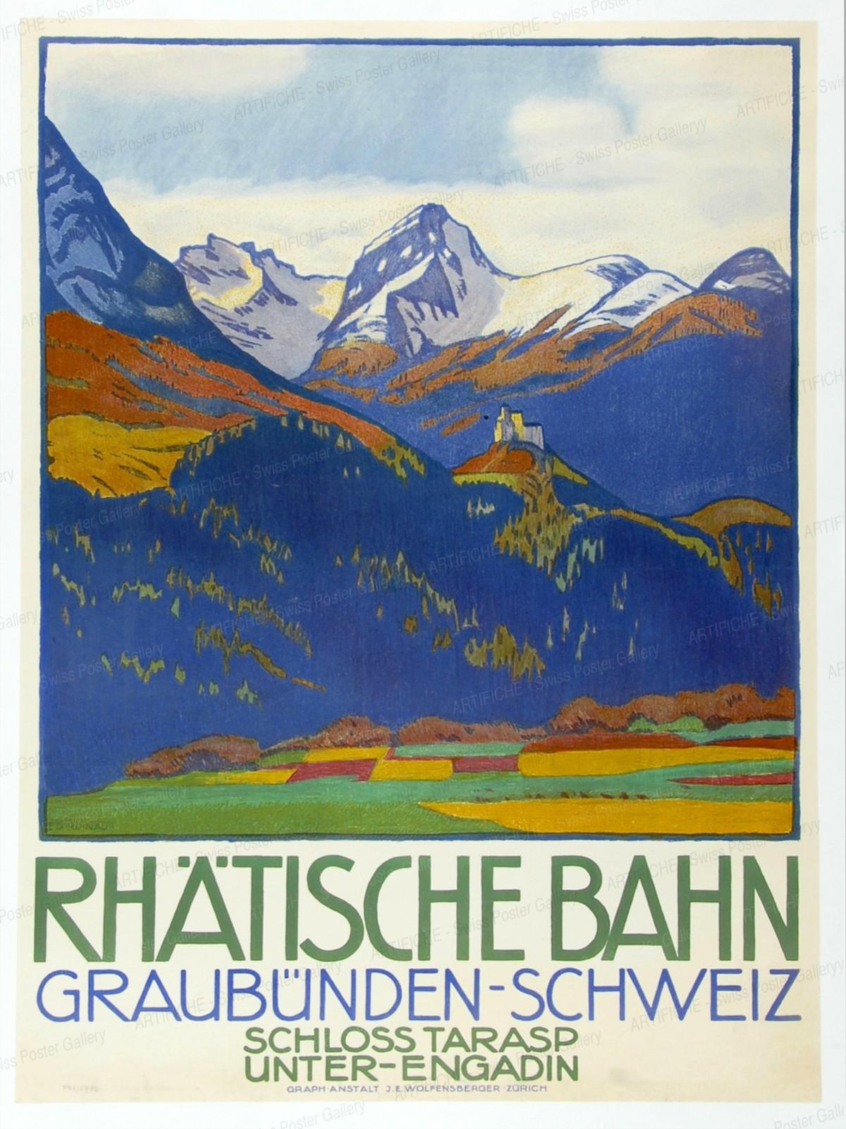 The Rhaetian Railway – Grisons – Switzerland, Emil Cardinaux