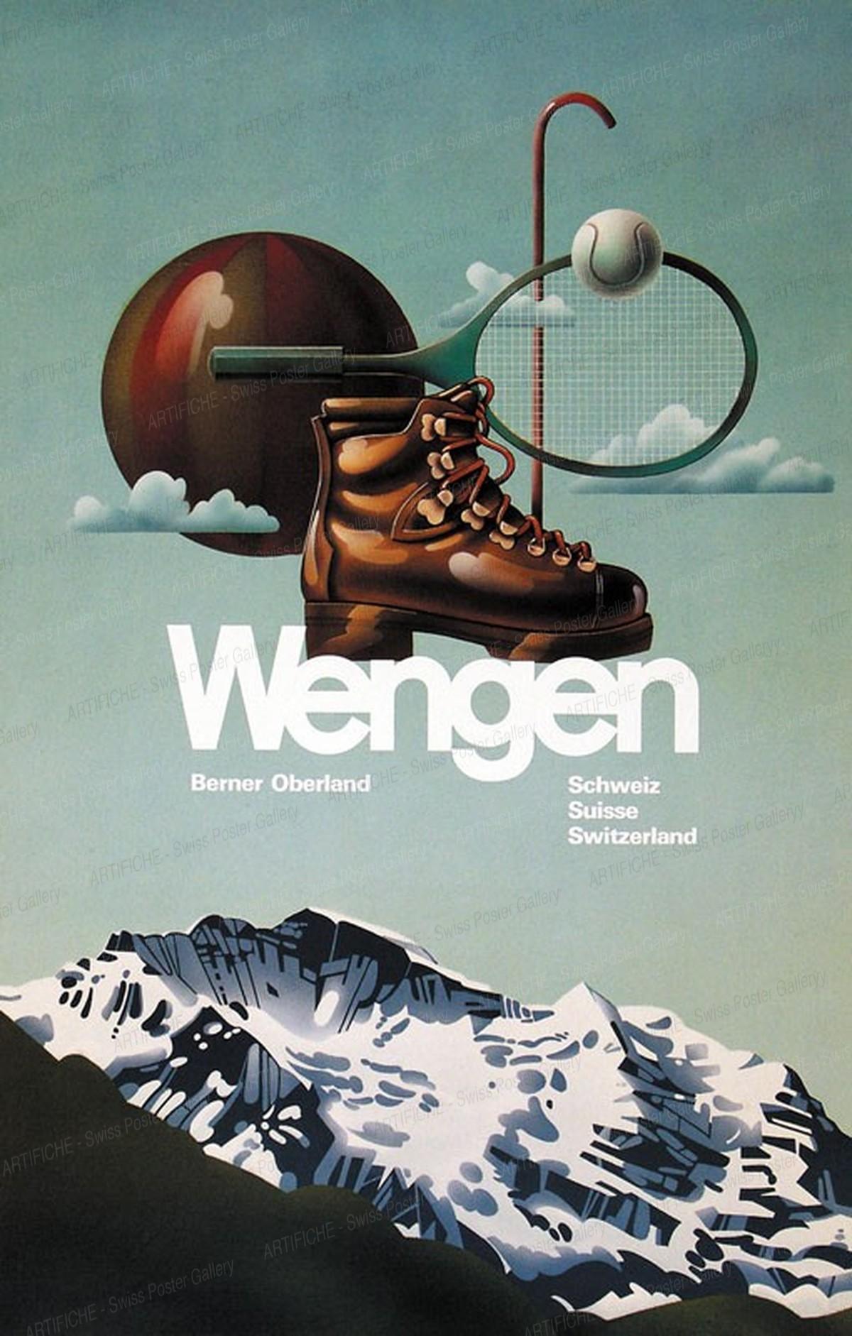 Wengen – Berner Oberland – Schweiz Suisse Switzerland, Artist unknown