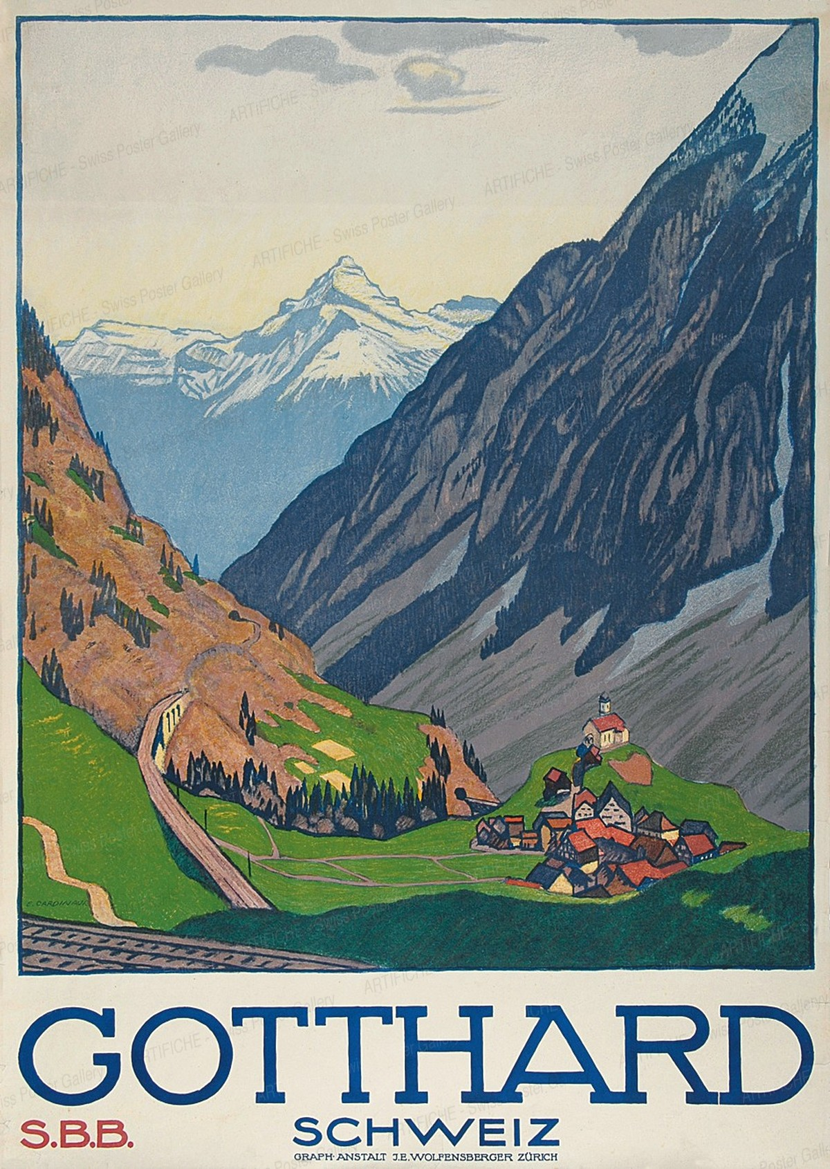 Gotthard – Switzerland – Swiss Federal Railways, Emil Cardinaux