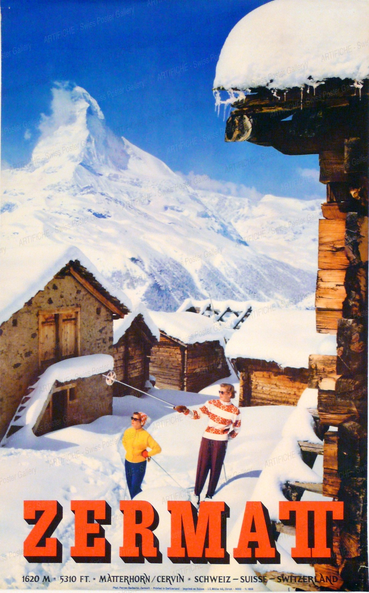 ZERMATT – 1620 m. 5310 ft. Matterhorn, Alfred Perren-Barberini