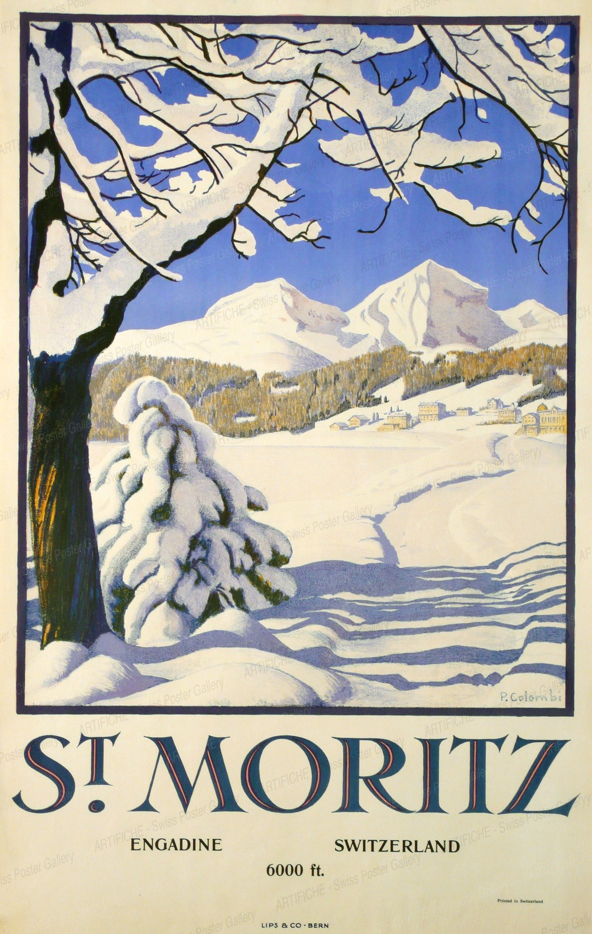 ST. MORITZ – ENGADIN – 6000 ft. SWITZERLAND, Plinio Colombi