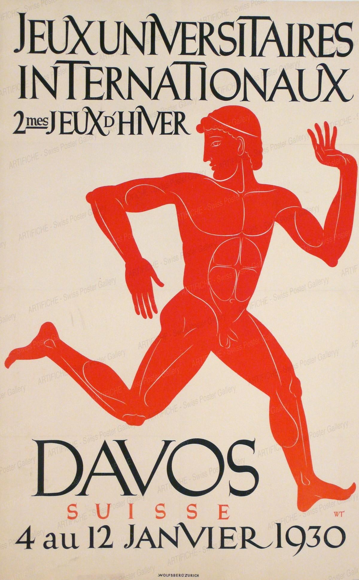 DAVOS SUISSE 4 au 12 Janvier 1930 – Jeux Universitaires Internationaux – 2mes Jeux d'Hiver, Willy Trapp