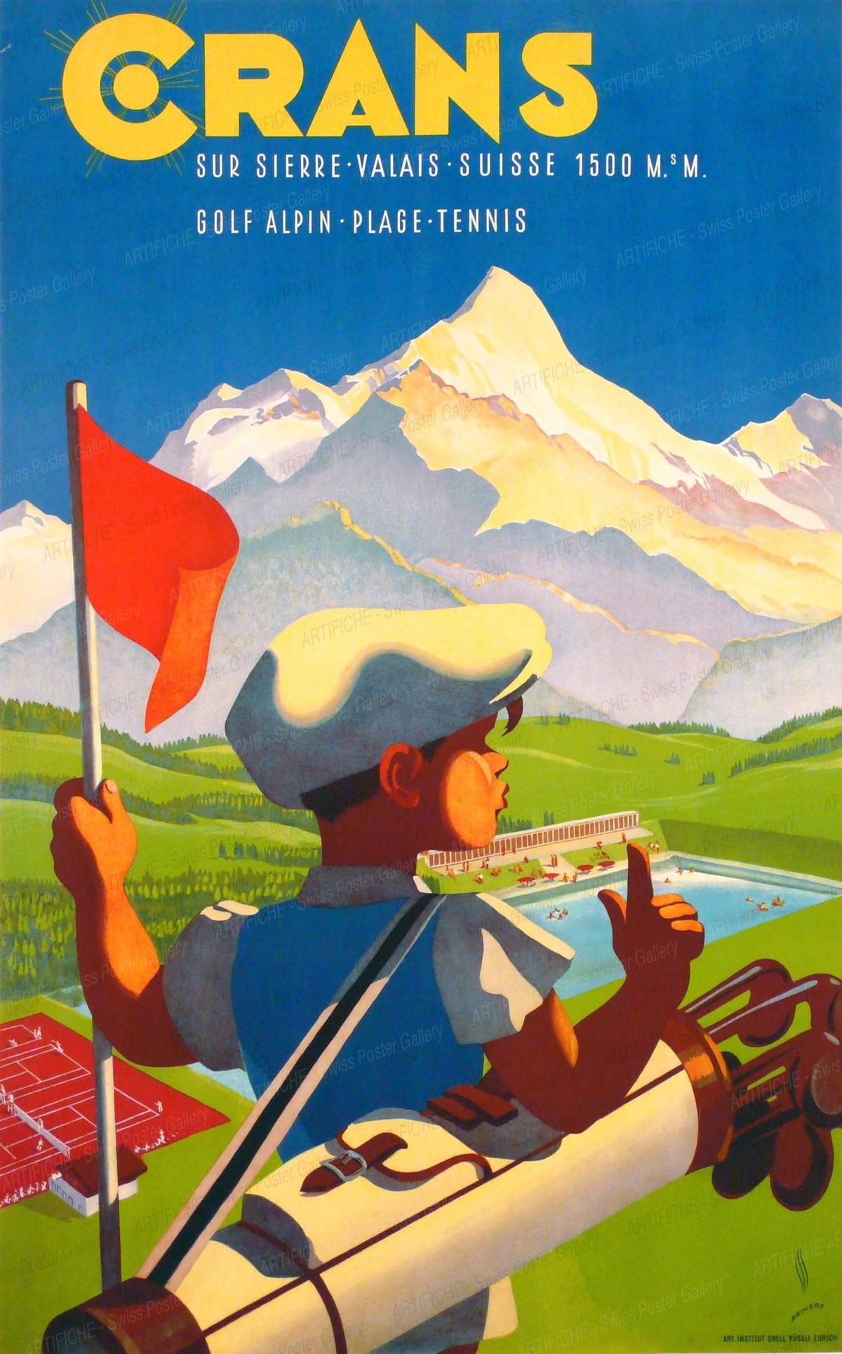 CRANS sur Sierre – Valais – Suisse – 1500 müM – Golf Alpin – Plage – Tennis, Martin Peikert