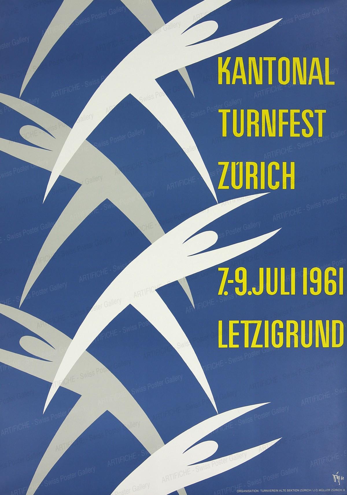 KANTONAL TURNFEST ZURICH 7.-9. Juli 1961 LETZIGRUND, Alex Walter Diggelmann