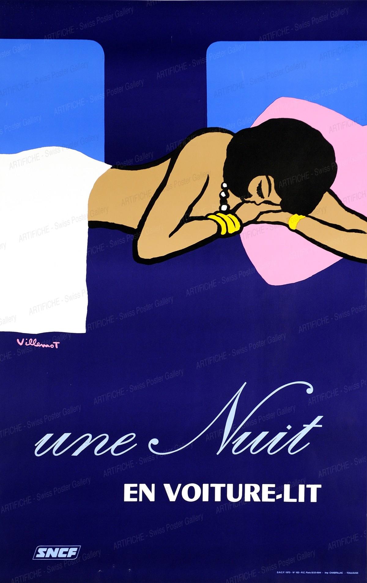 Une Nuit EN VOITURE-LIT – SNCF, Bernard Villemot