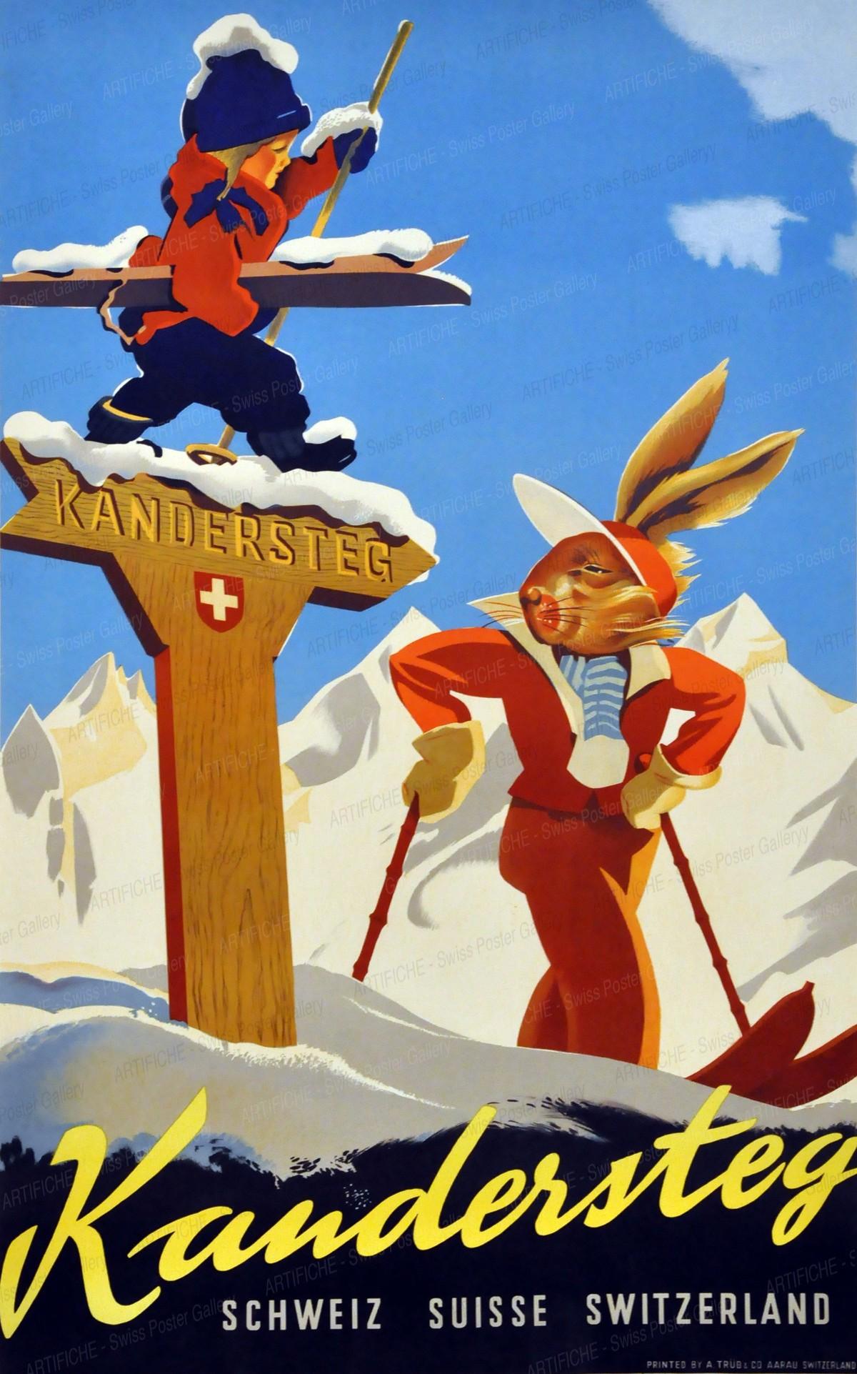 Kandersteg – Schweiz – Suisse – Switzerland, Willy Trapp