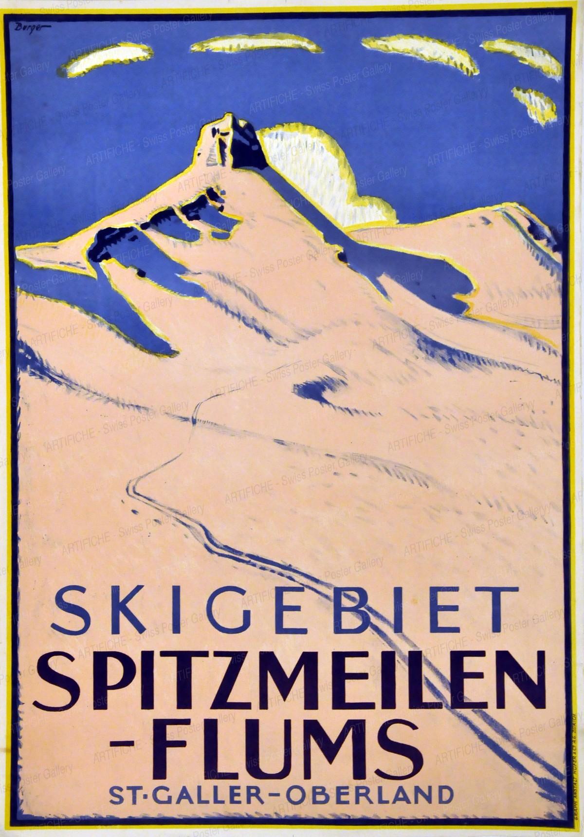 Skigebiet Spitzmeilen – Flums St. Galler – Oberland, Wilhelm Friedrich Burger